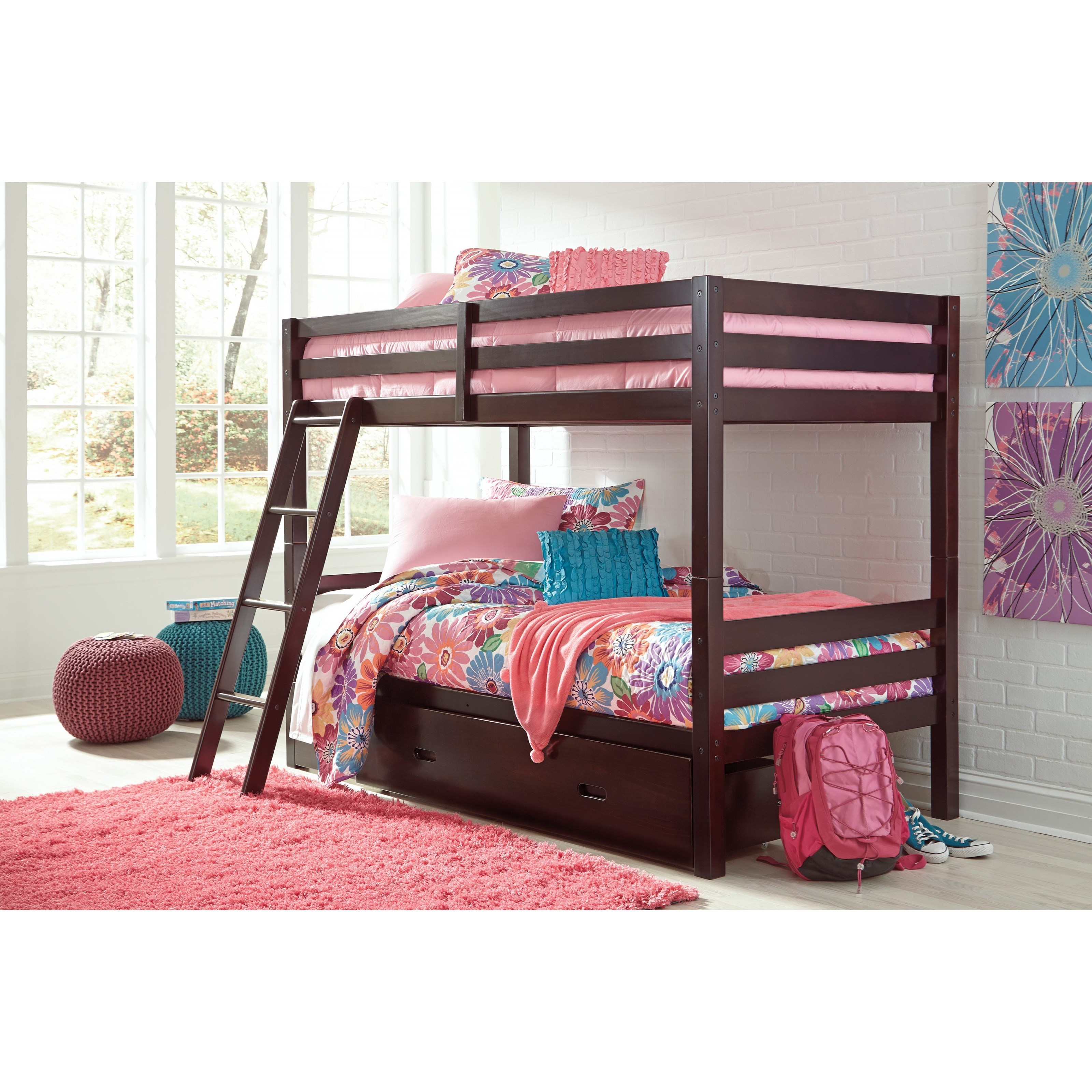 Solid Pine Twin Twin Bunk Bed W Under Bed Storage By