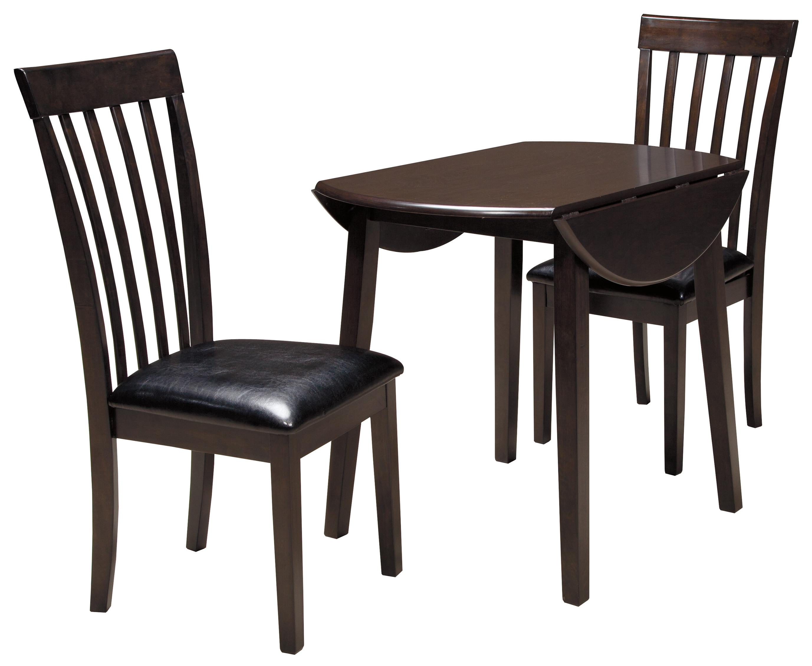 3 piece round drop leaf table set by signature design by ashley wolf and gardiner wolf furniture. Black Bedroom Furniture Sets. Home Design Ideas