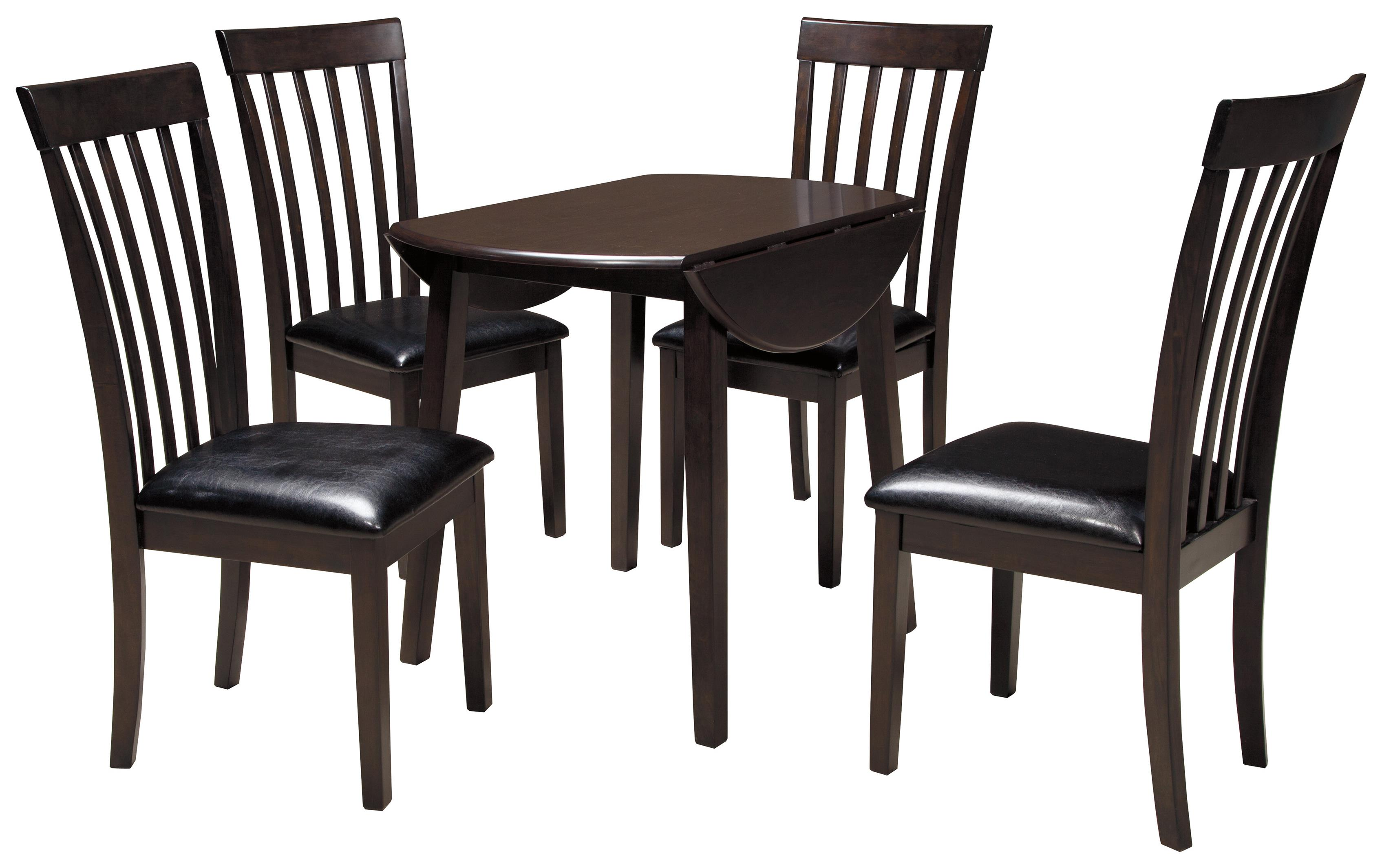 piece round drop leaf table set by signature design by ashley wolf