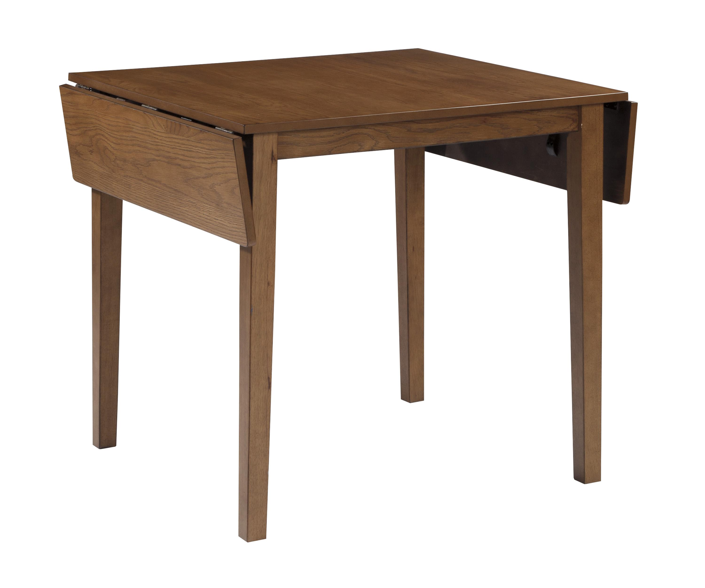 Dining Room Table W/ Oak Veneers And Drop Leaf By Signature Design By . Full resolution  img, nominally Width 3000 Height 2503 pixels, img with #684830.