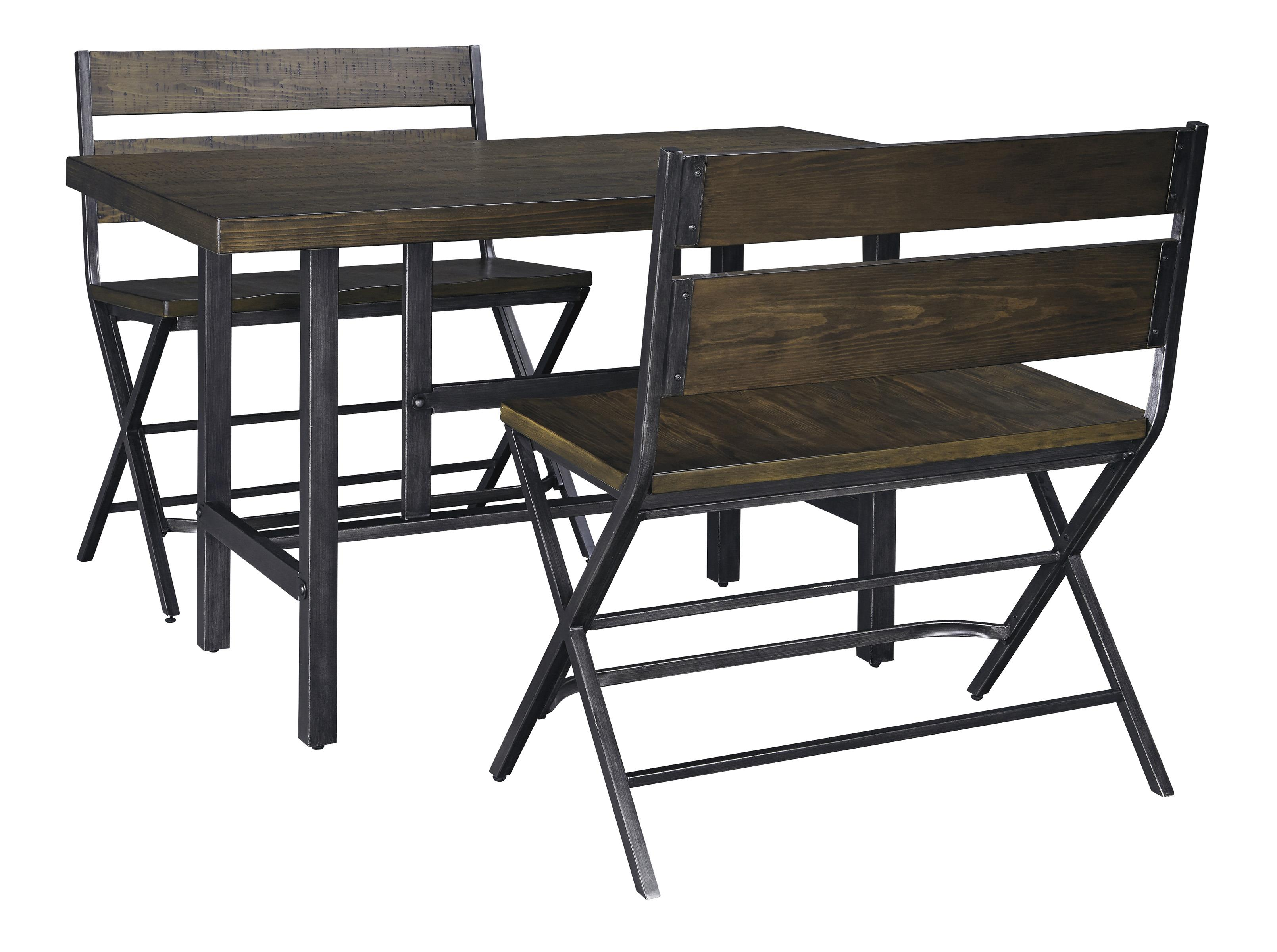3 Piece Rectangular Dining Room Counter Table W Pine