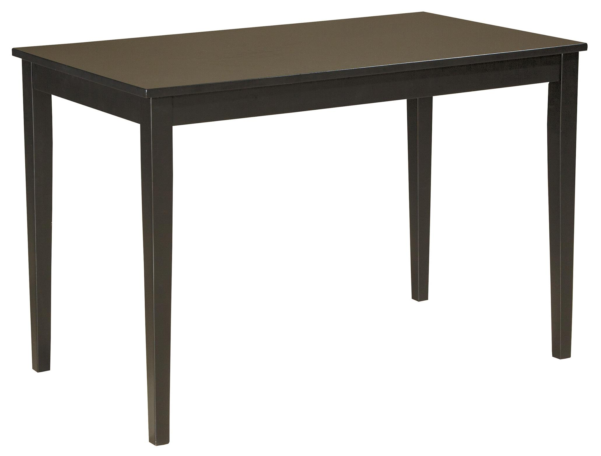 Contemporary rectangular dining room table by signature for Contemporary rectangular dining table