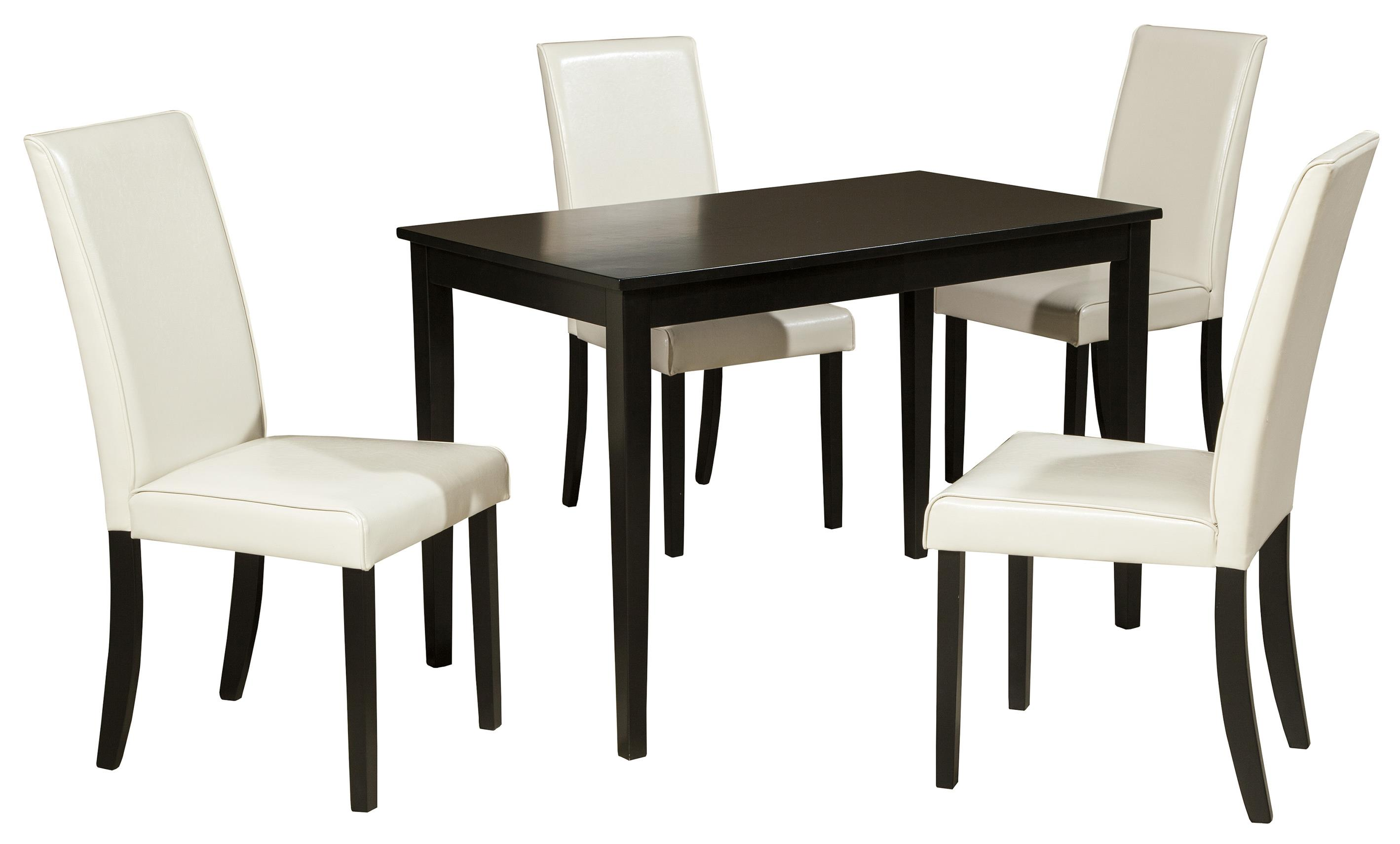 contemporary rectangular dining room table by signature design by ashley wolf and gardiner. Black Bedroom Furniture Sets. Home Design Ideas