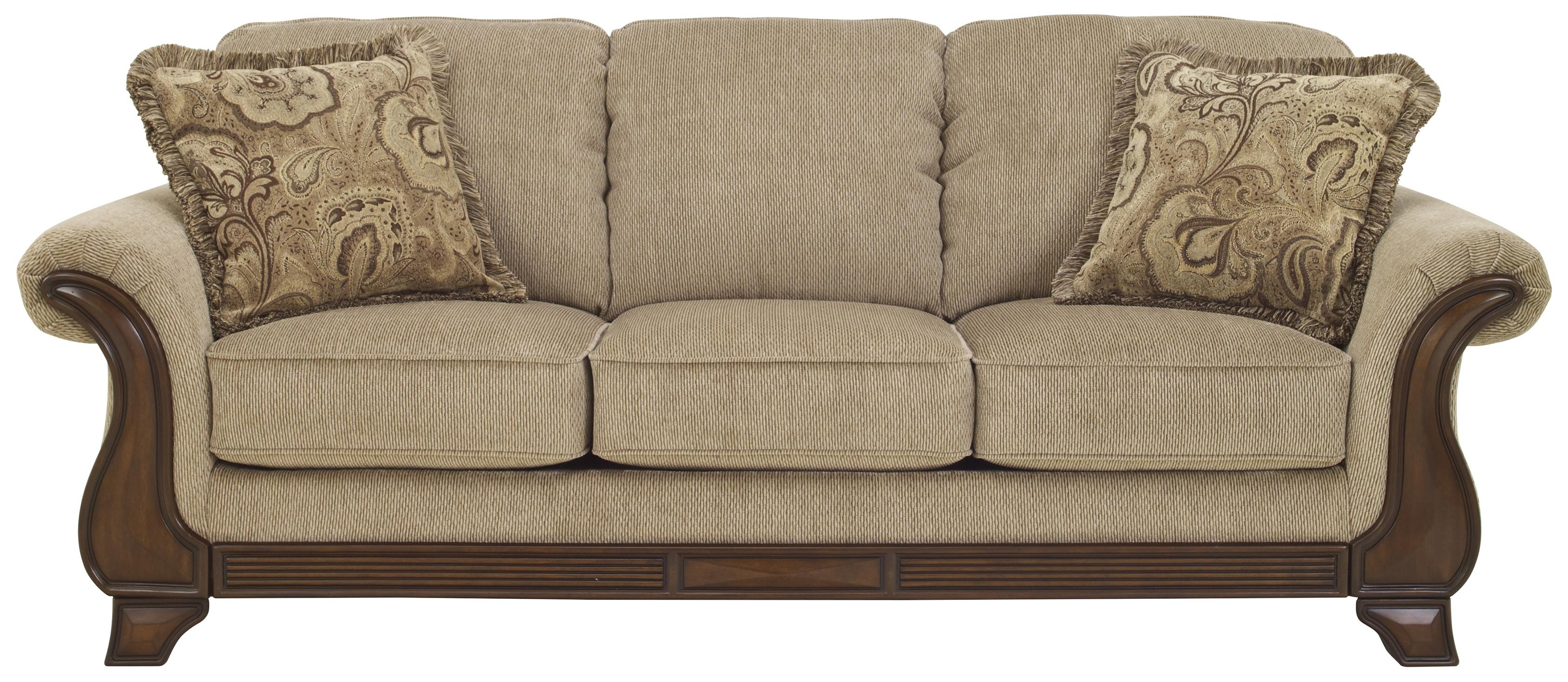 Brand new Sofa with Flared Arms & Exposed Wood Accents by Signature Design  JR56