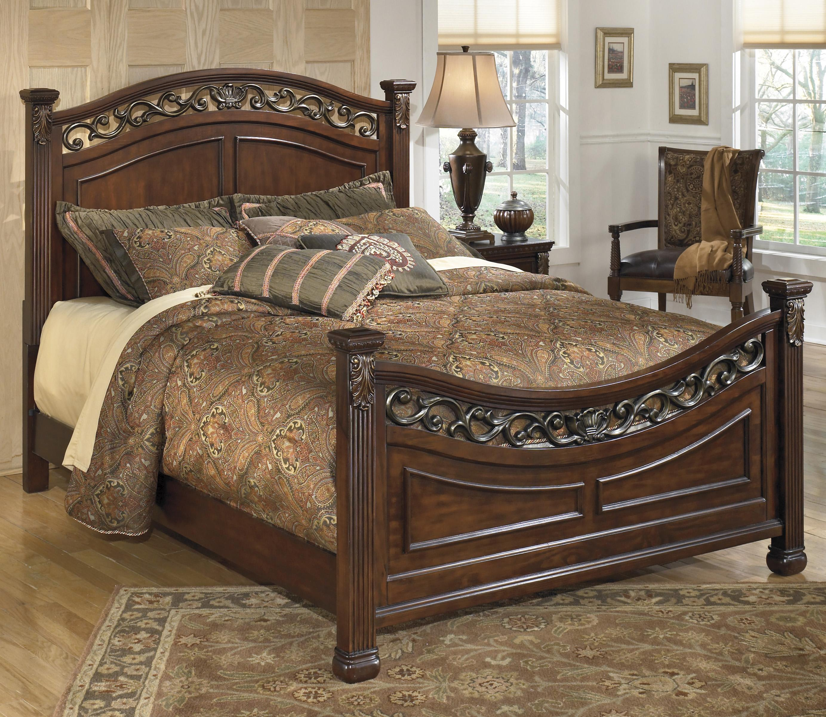 Traditional queen panel bed with decorative headboard and Decorative headboards for beds