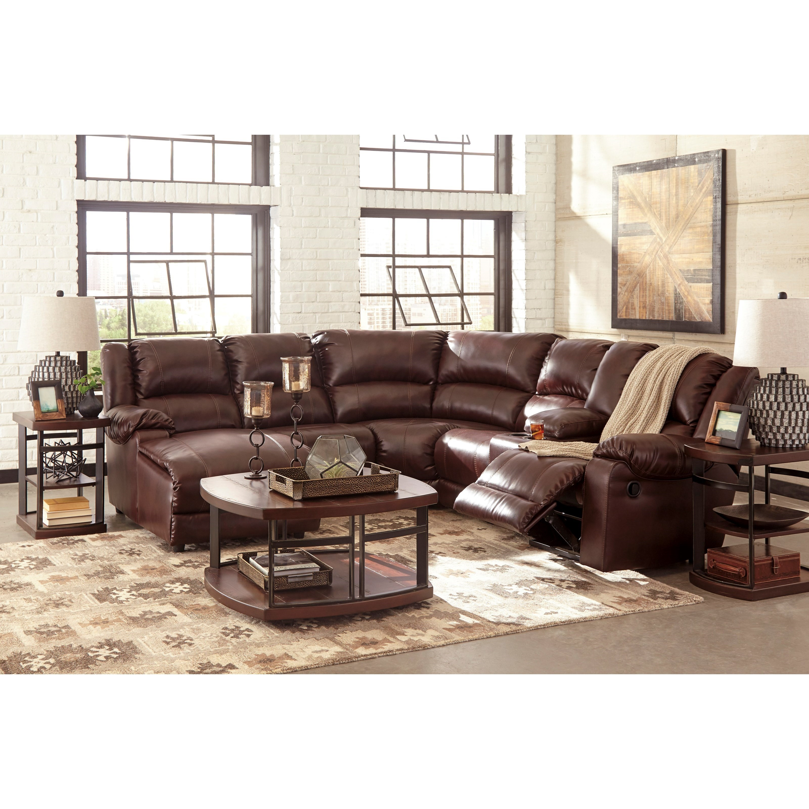 Reclining Sectional with Chaise by Signature Design by