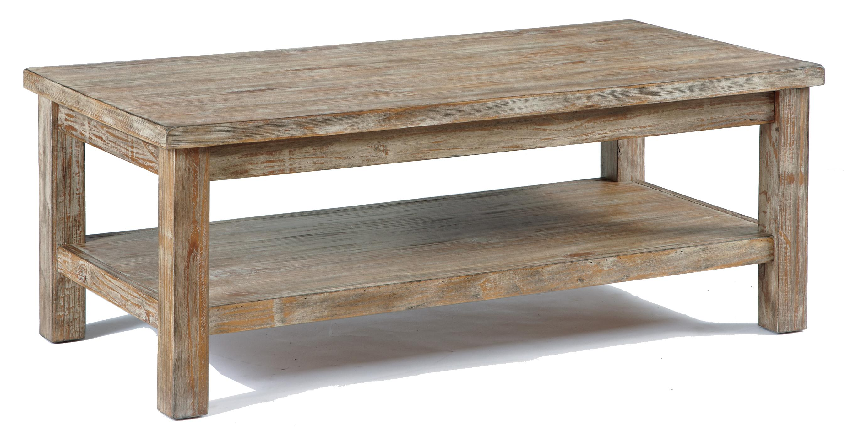 Rustic bisque rectangular cocktail table by signature for Coffee tables york pa