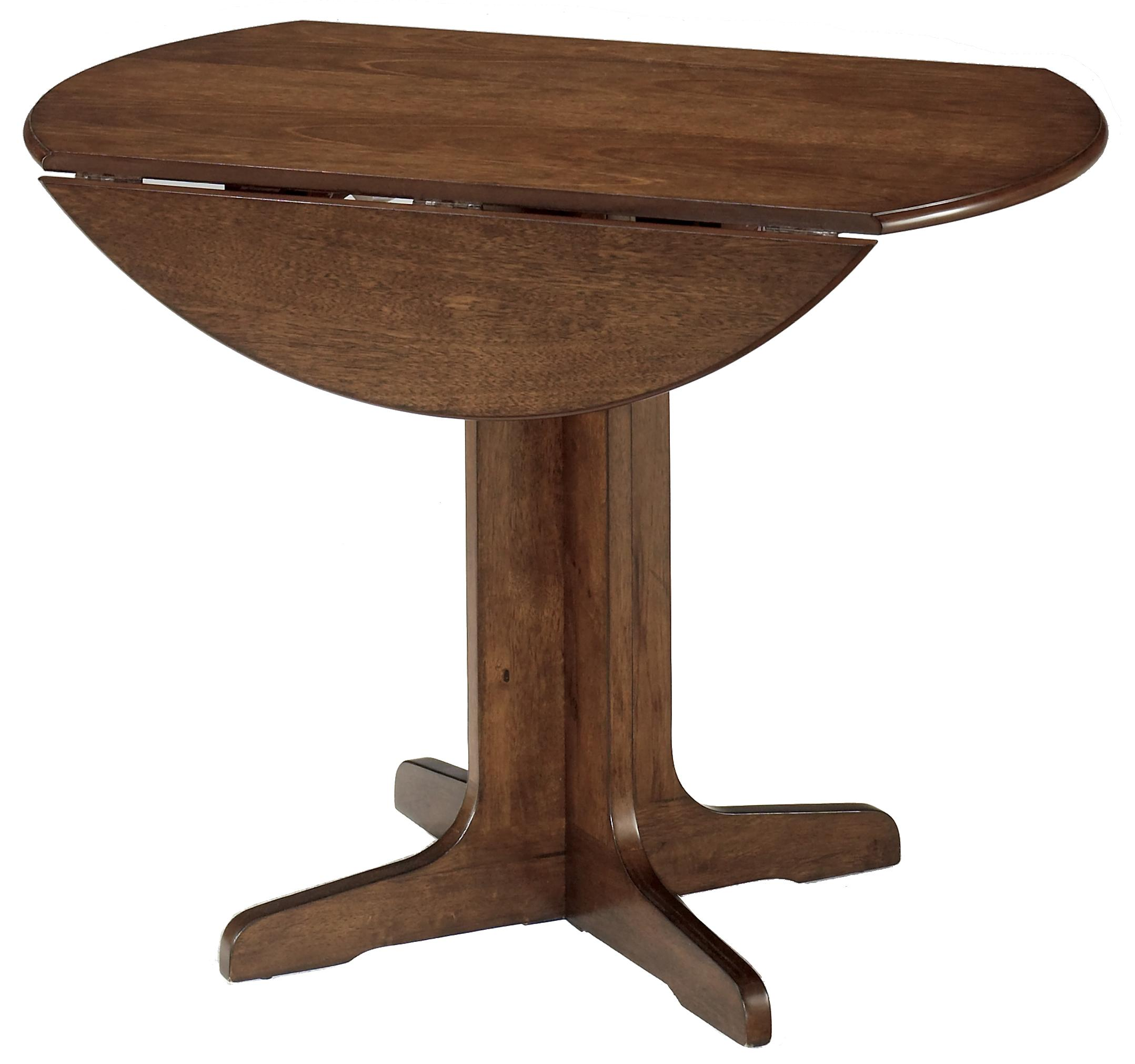 5 piece round drop leaf table set by signature design by for Round drop leaf dining table