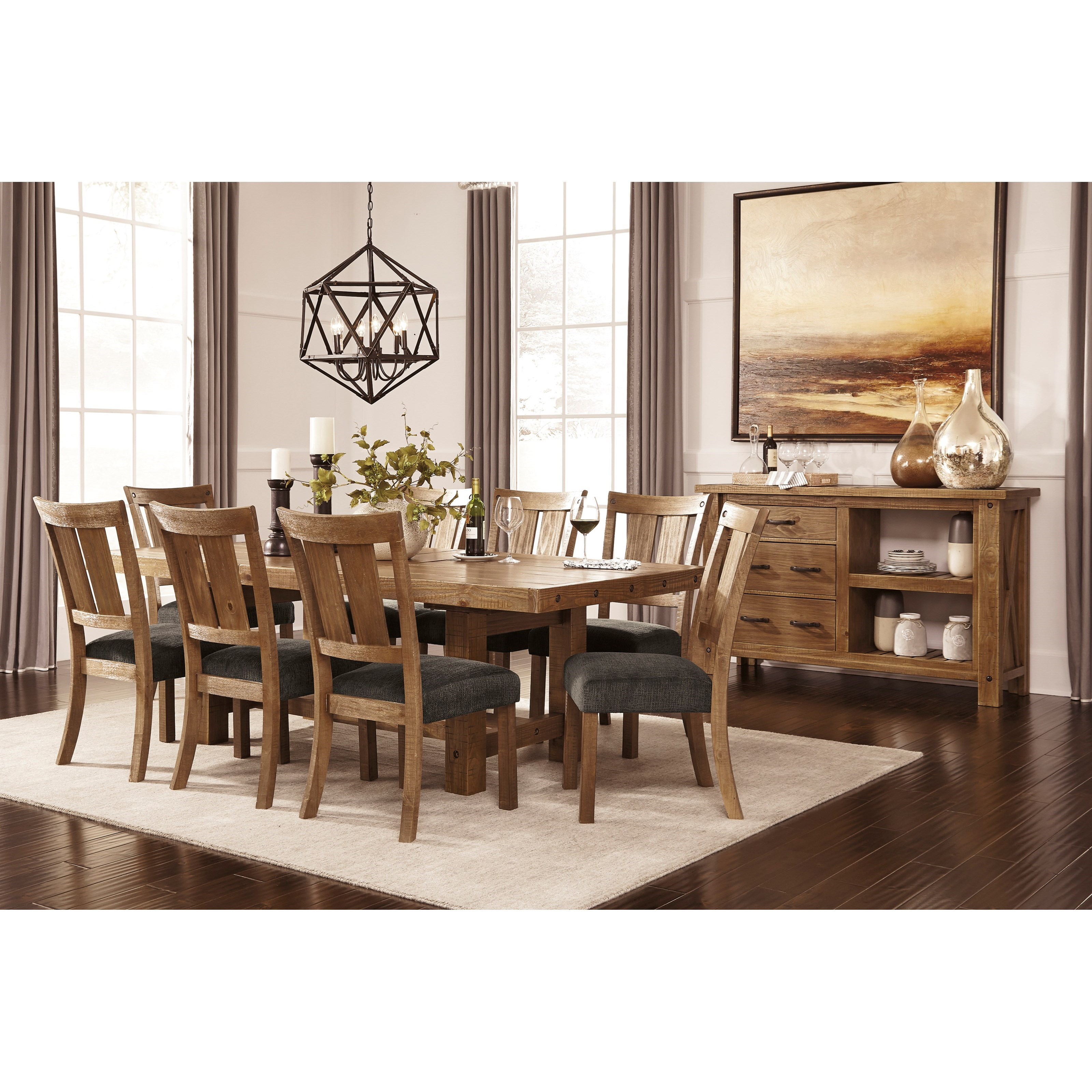 Casual dining room group by signature design by ashley for Casual dining room decor