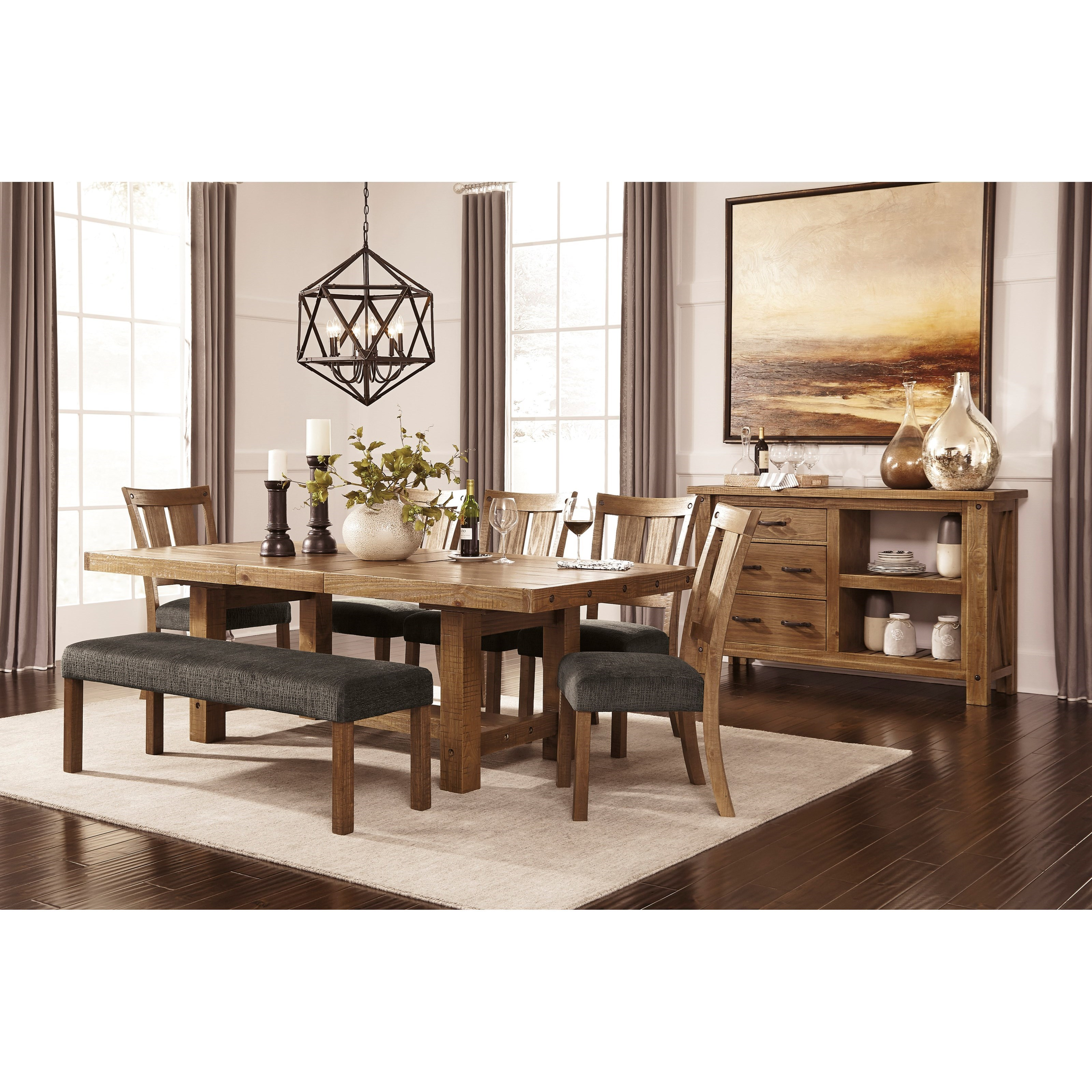 Casual dining room group by signature design by ashley for Informal dining
