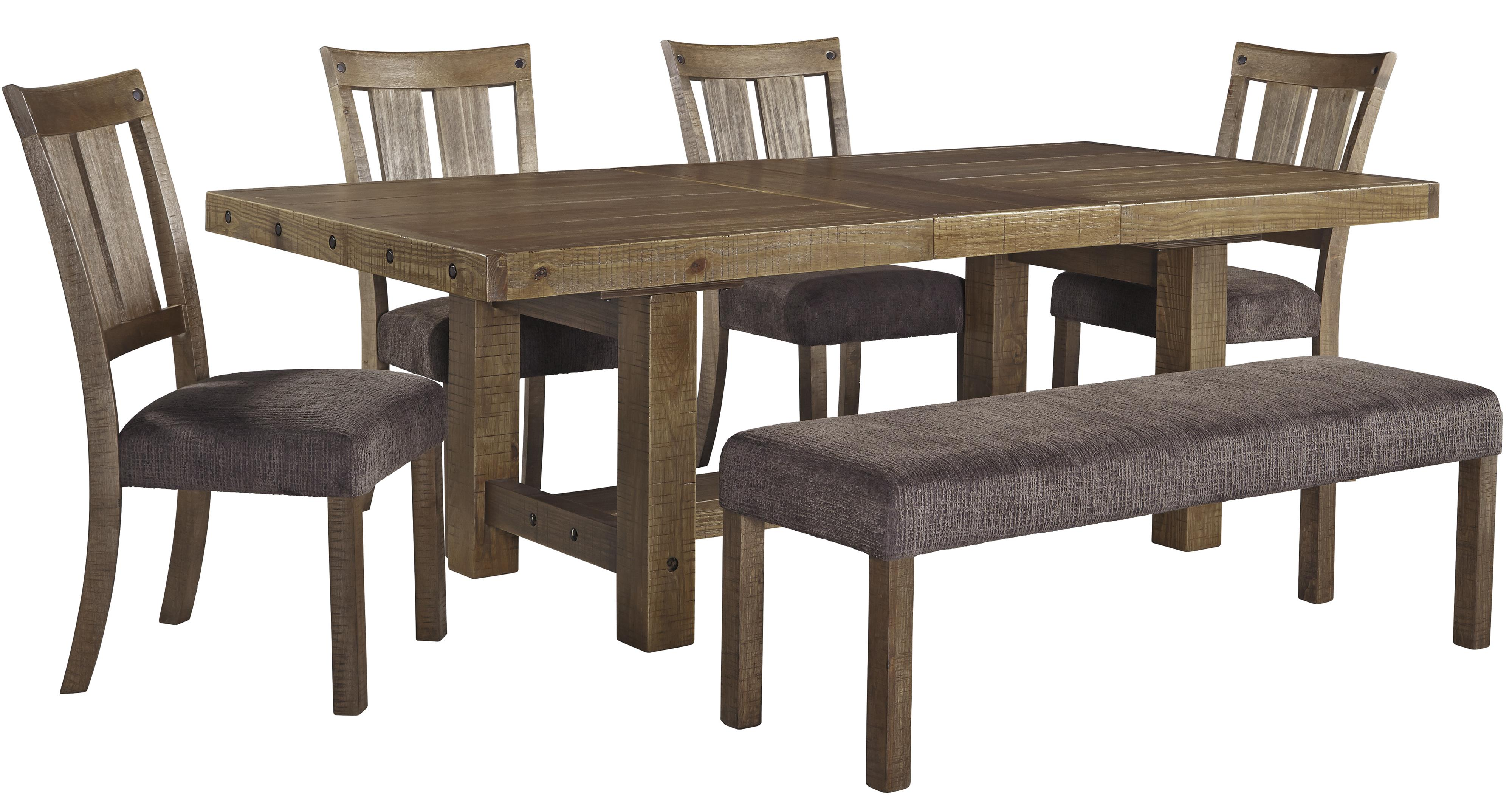 6 Piece Table Amp Chair Set With Bench By Signature Design