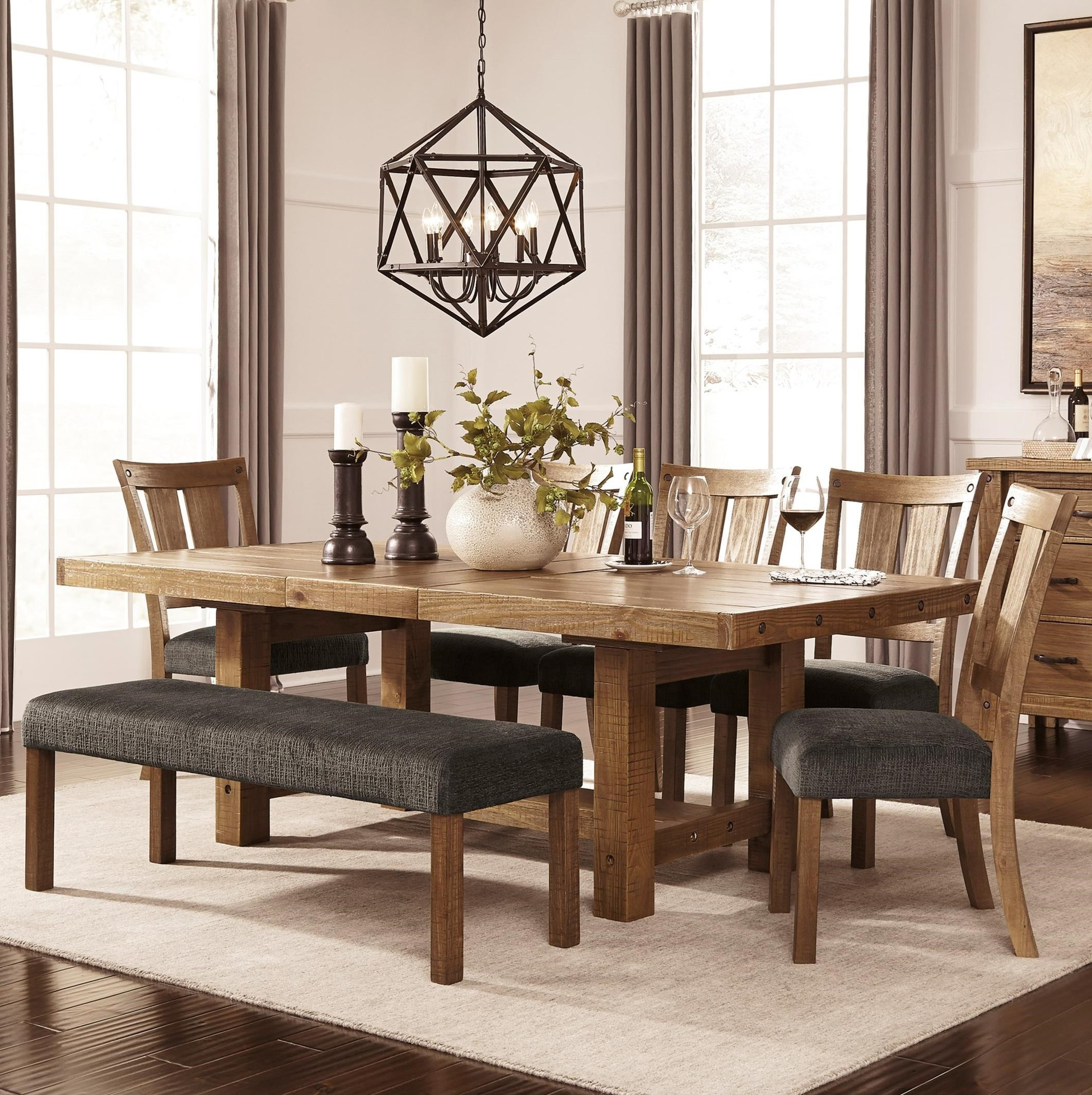 Dining Room Table And Bench Set: 7 Piece Table & Chair Set With Bench By Signature Design