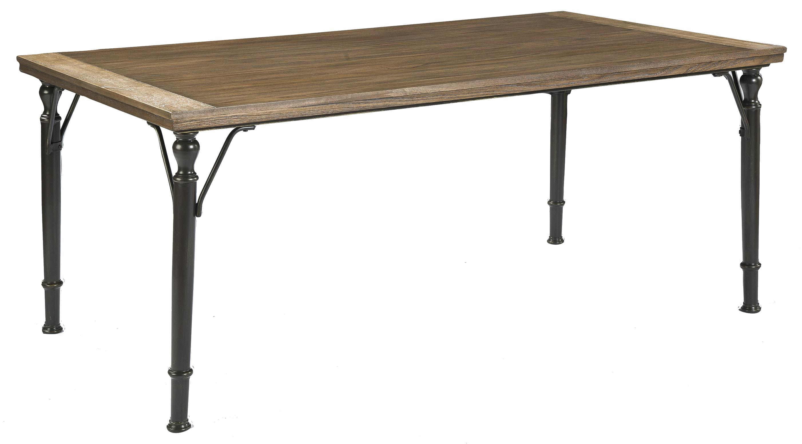 Medium Rustic Brown Rectangular Dining Room Table w\/ Metal Legs by Signature Design by Ashley