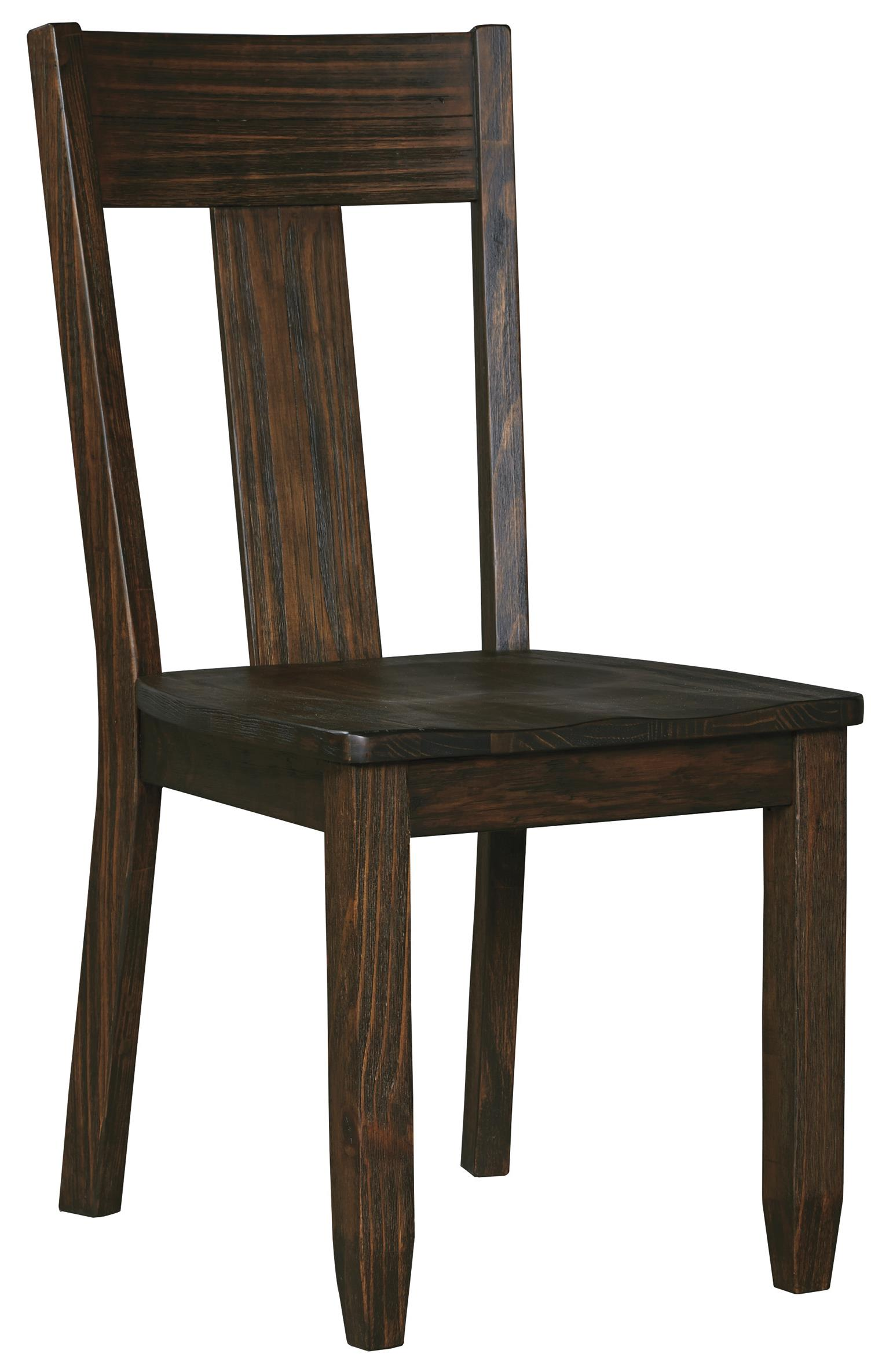 Solid wood pine dining room side chair by signature design for Dining room tables 38 inches wide