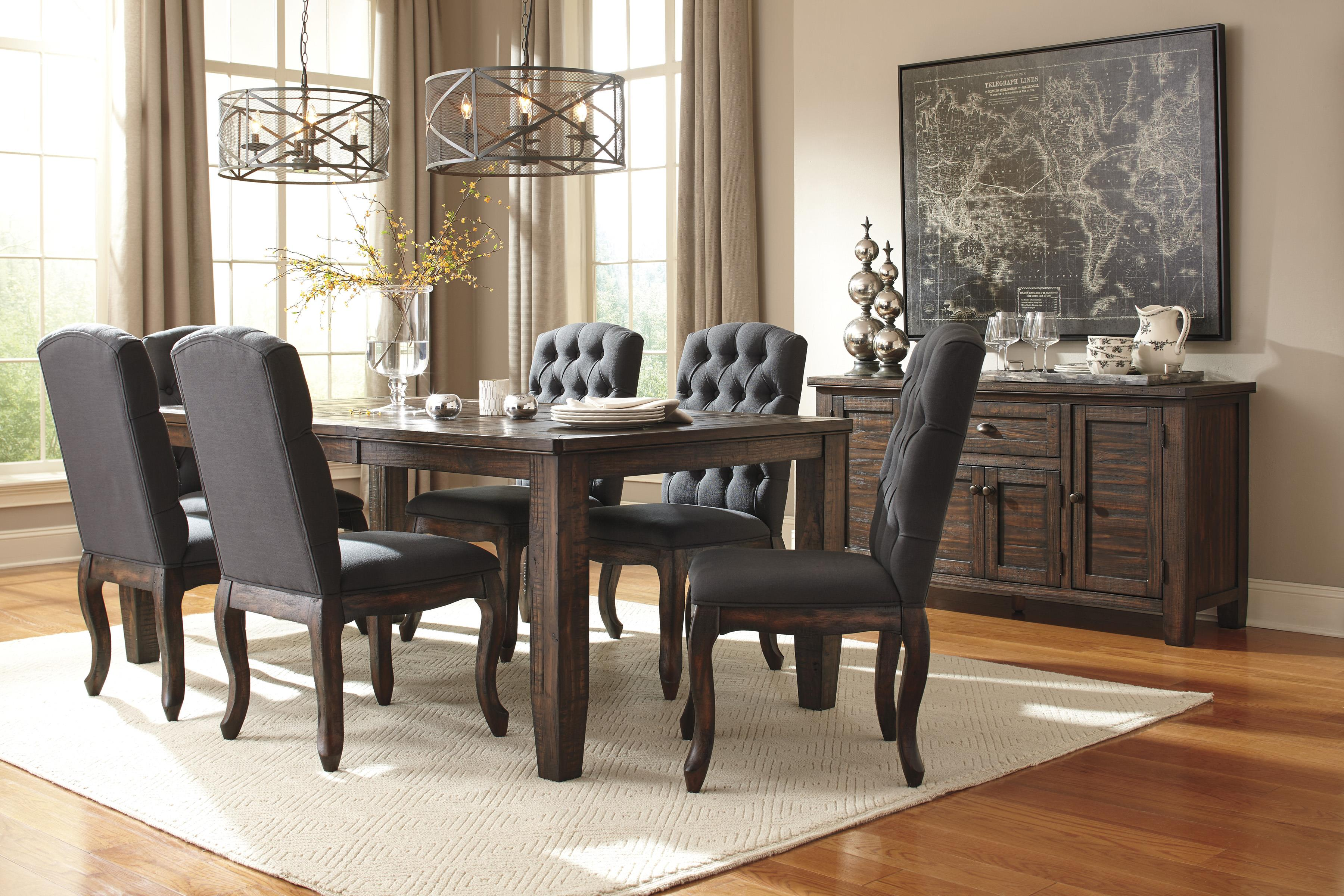 Dining Upholstered Side Chair with Tufted Back and