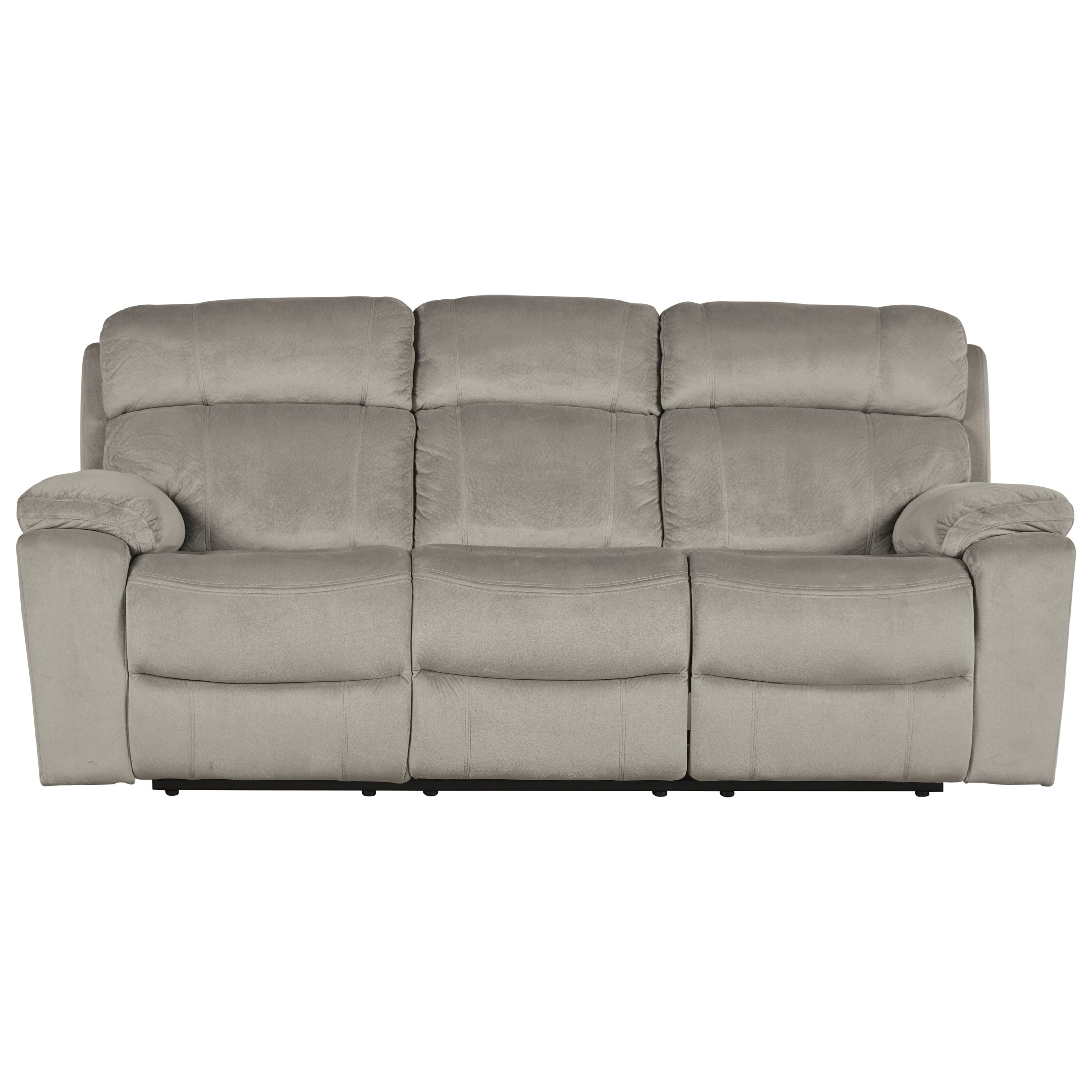 Contemporary power reclining sofa w adjustable headrest for Contemporary reclining sofas