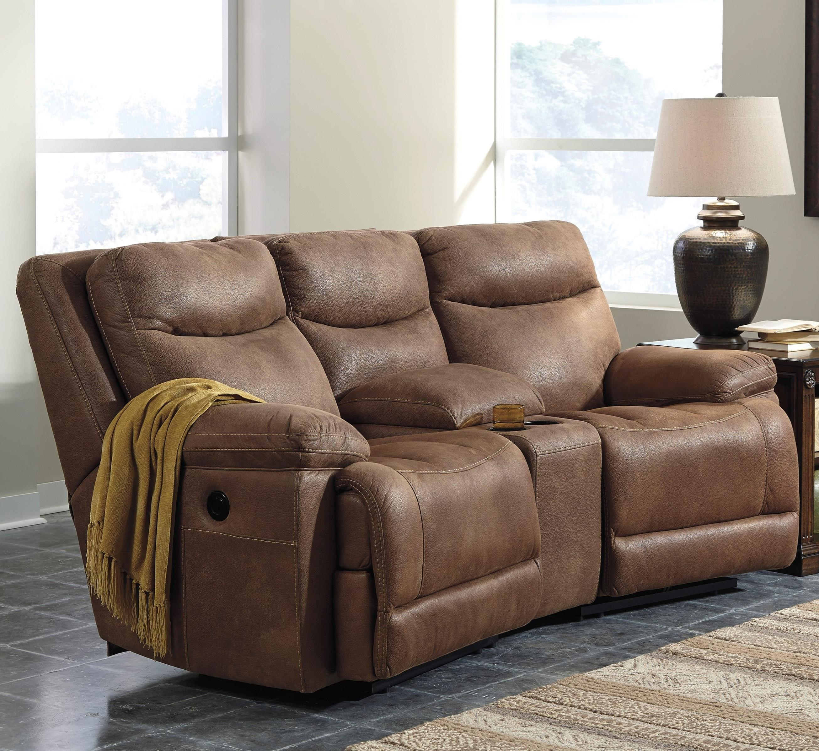 Reclining Sofa With Console 2 Seat Reclining Sofa With
