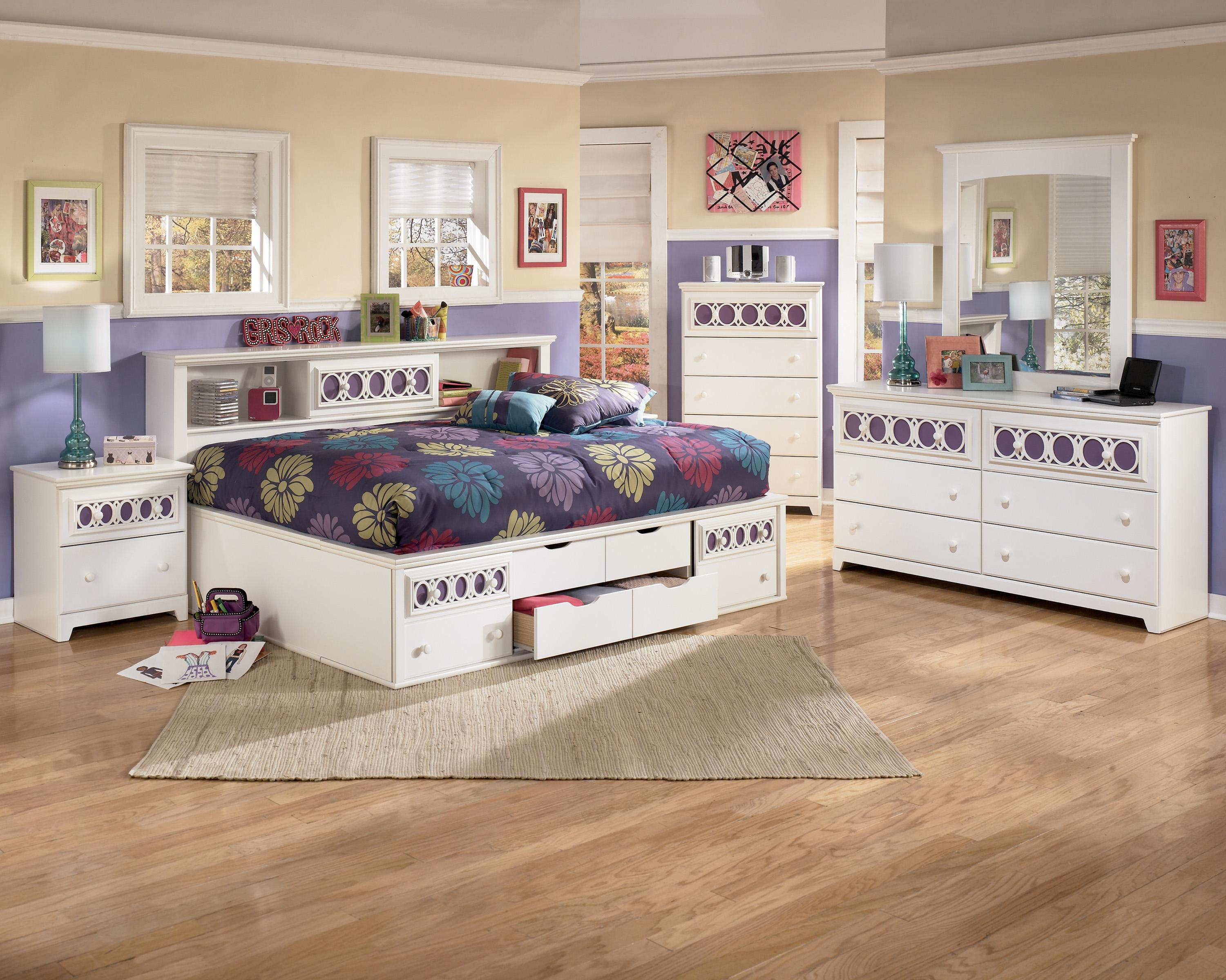 Full Bedside Bookcase Daybed With Customizable Color
