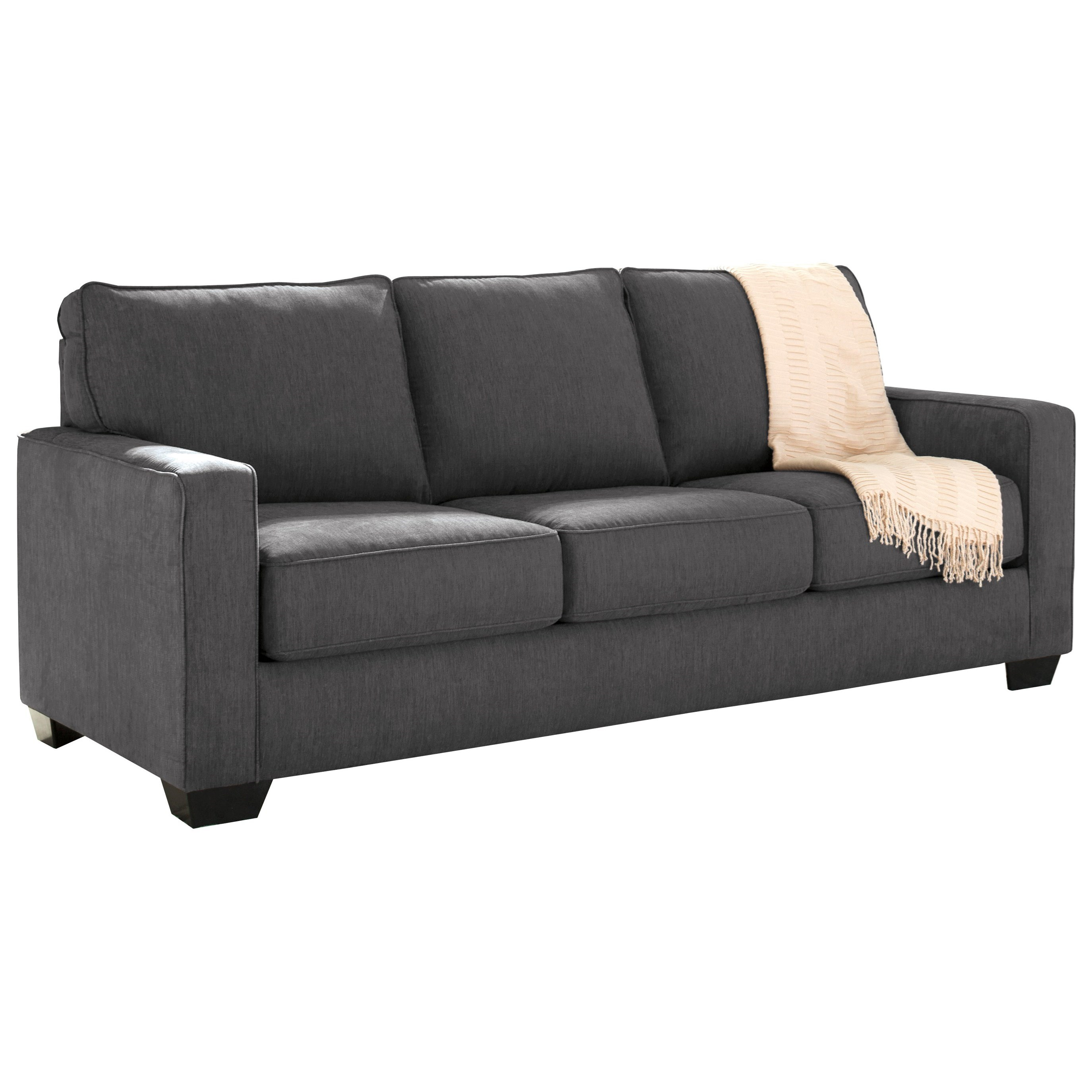 queen sofa sleeper with memory foam mattress by signature design by ashley wolf and gardiner. Black Bedroom Furniture Sets. Home Design Ideas