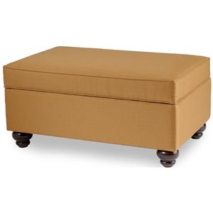 Storage Ottoman with Tapered Wood Legs by Smith BrothersWolf