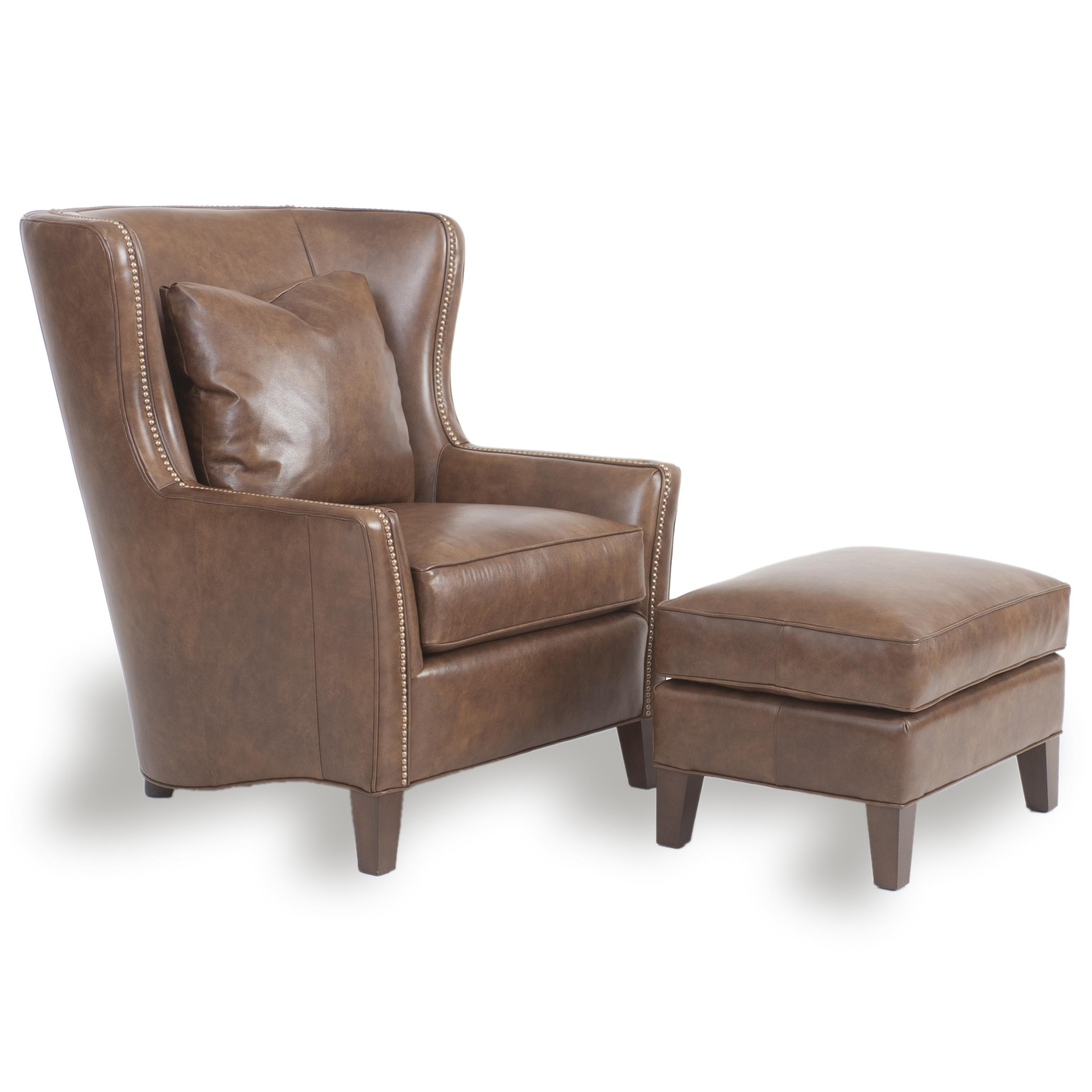 Wingback Chair and Ottoman by Smith Brothers