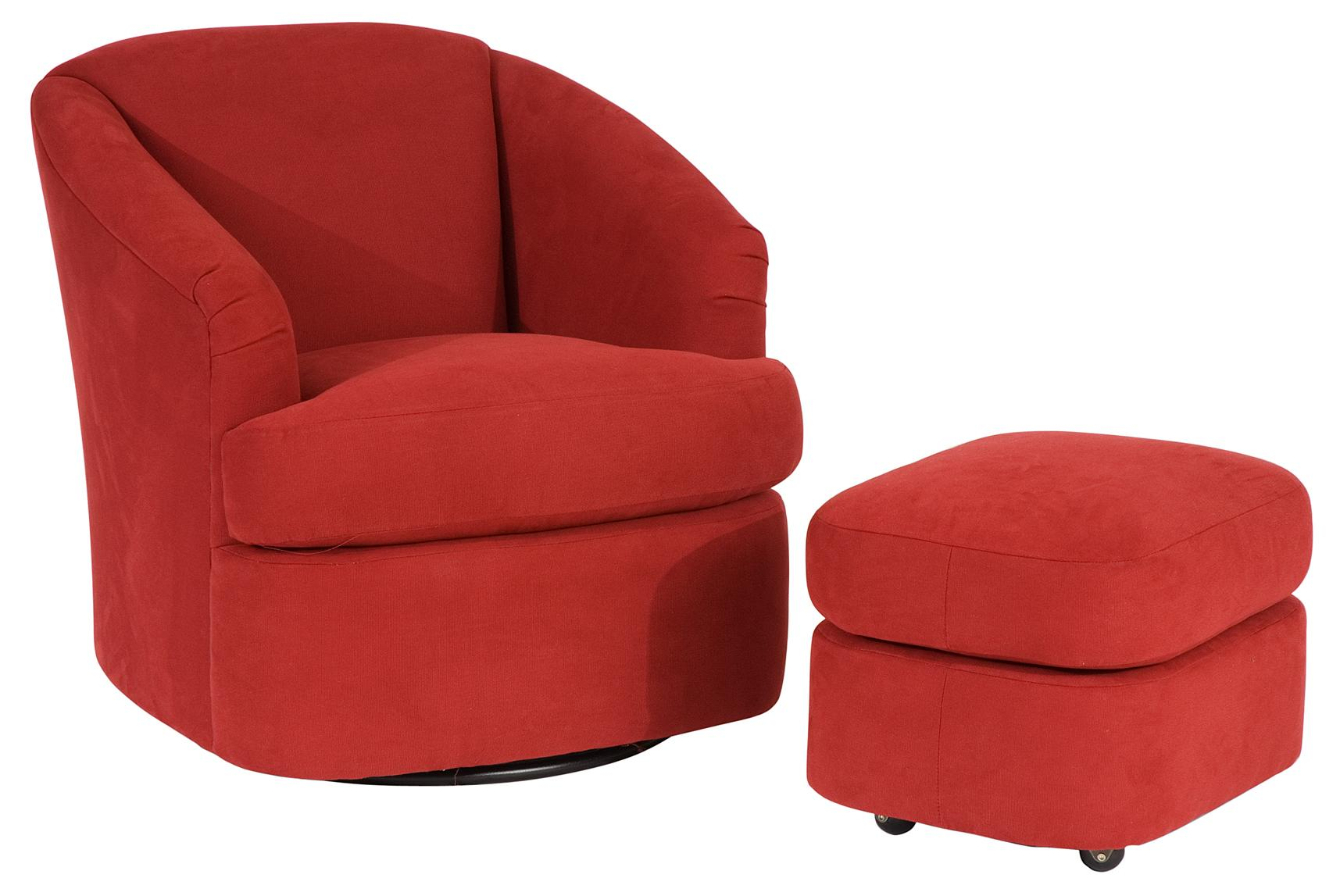Contemporary Barrel Swivel Chair by Smith Brothers