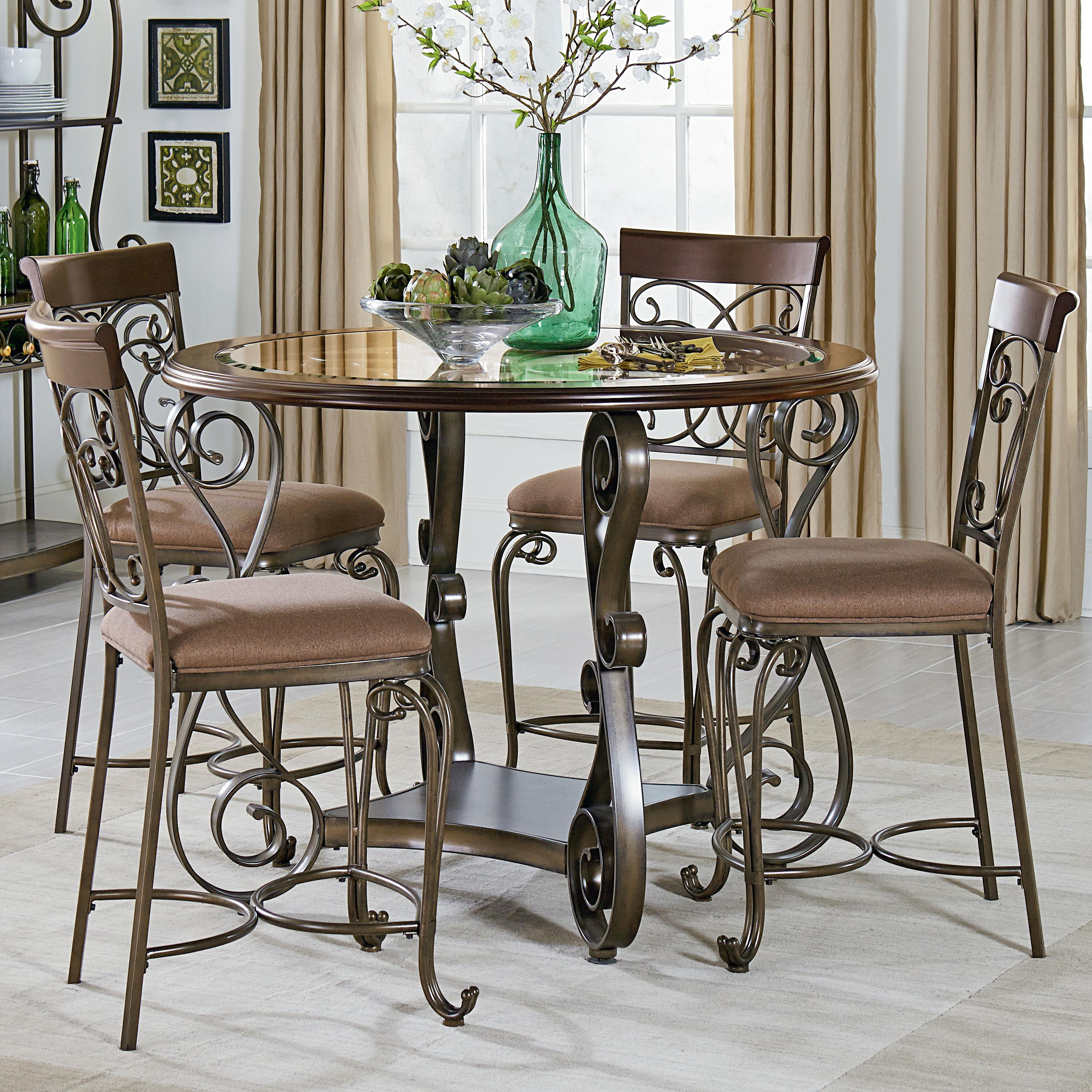 Round Counter Height Table And Chair Set By Standard