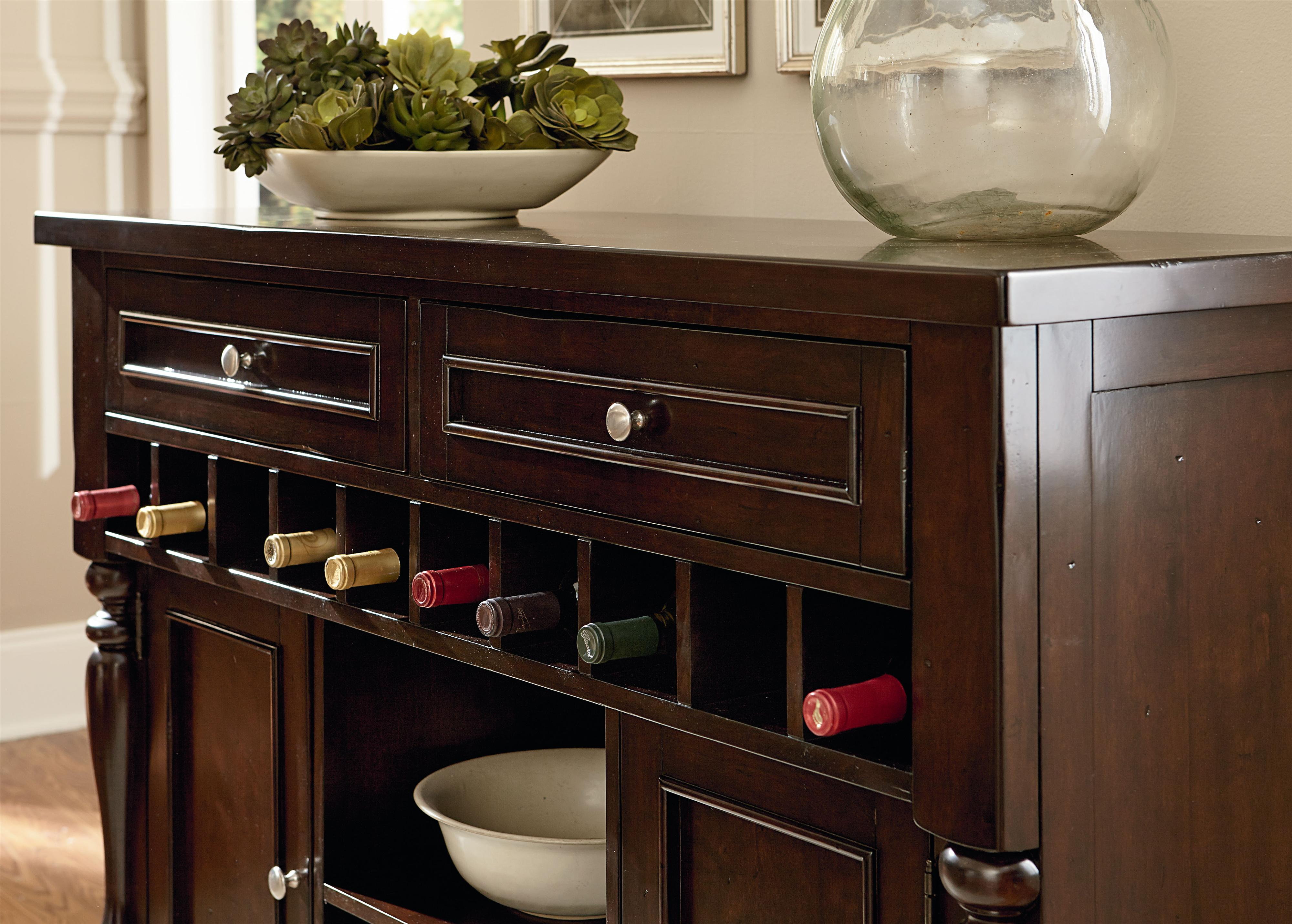 Buffet With 10 Bottle Wine Rack By Standard Furniture