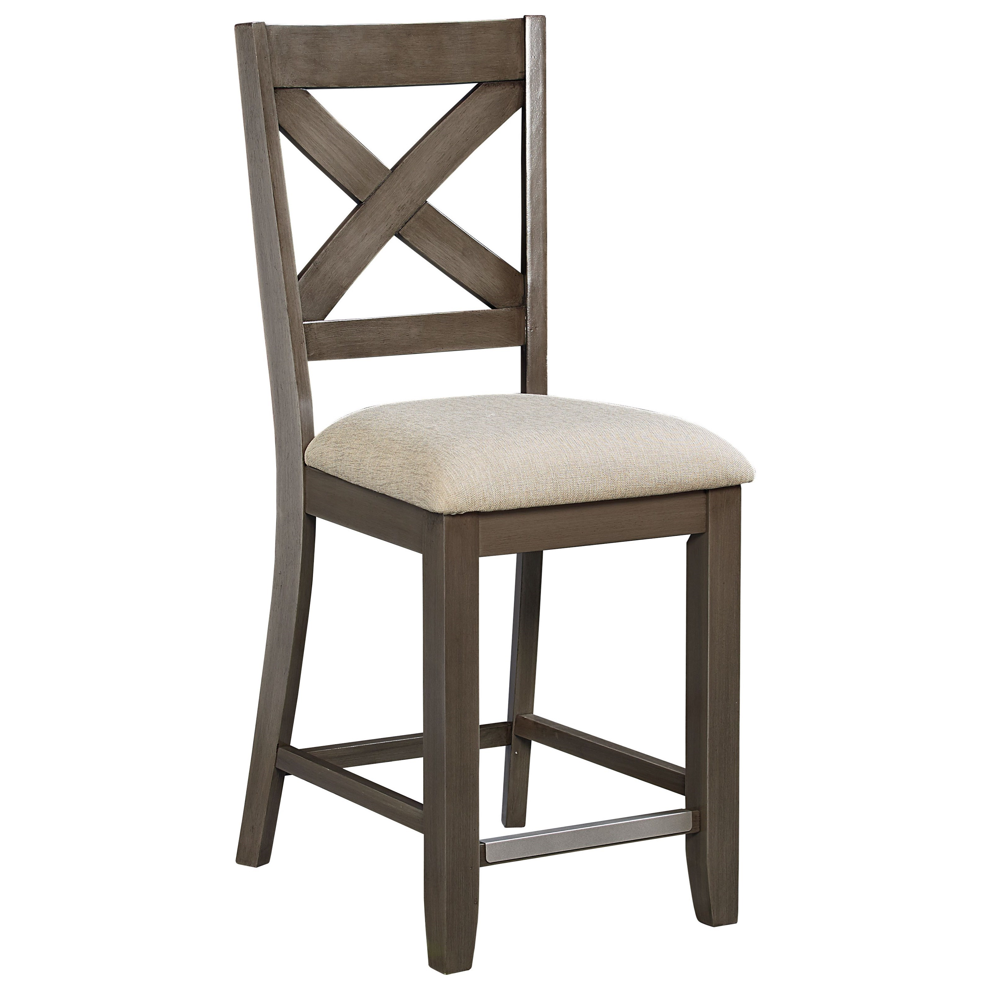 Counter Height Bar Stool With X Back By Standard Furniture