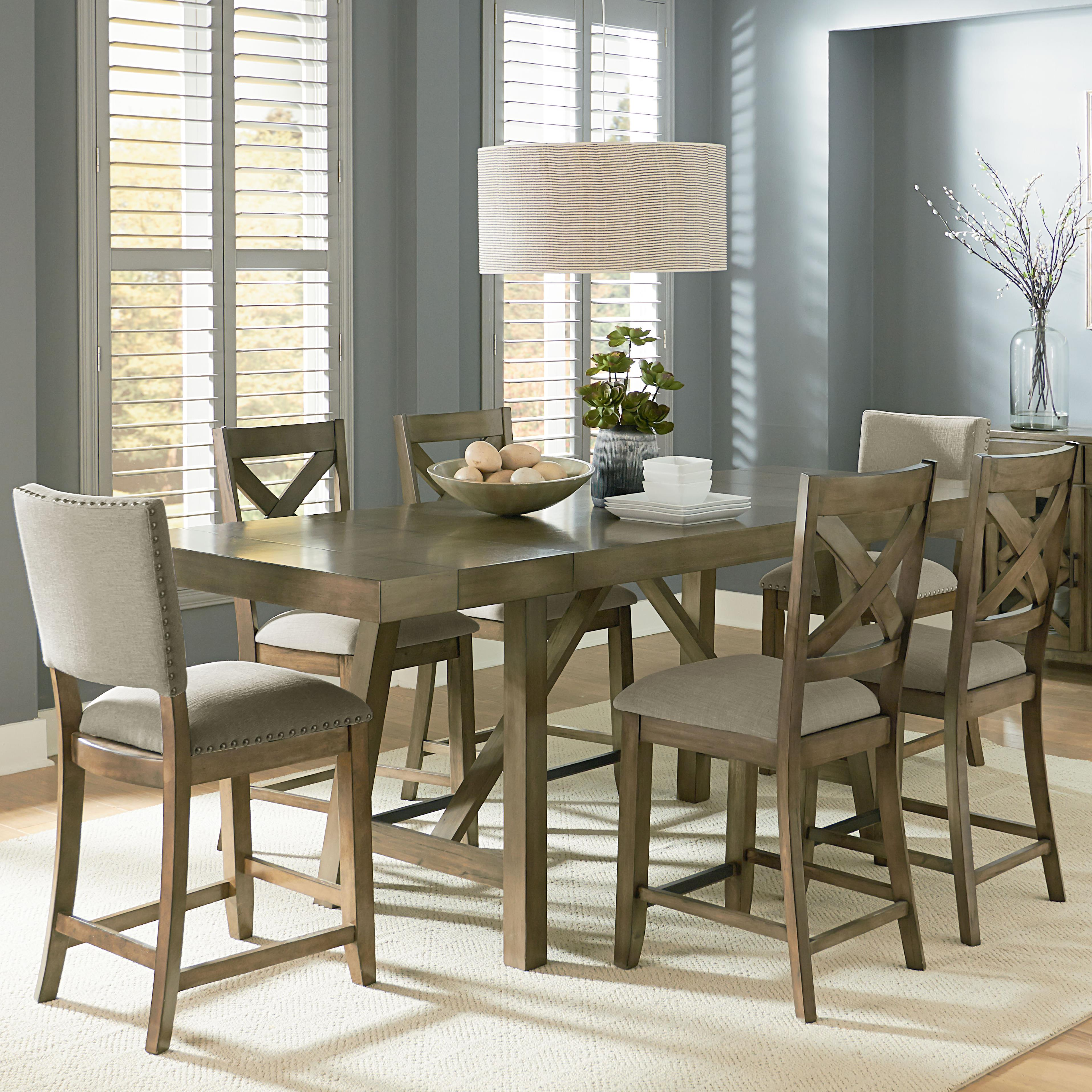 Counter Height 7 Piece Dining Room Table Set By Standard Furniture Wolf And Gardiner Wolf