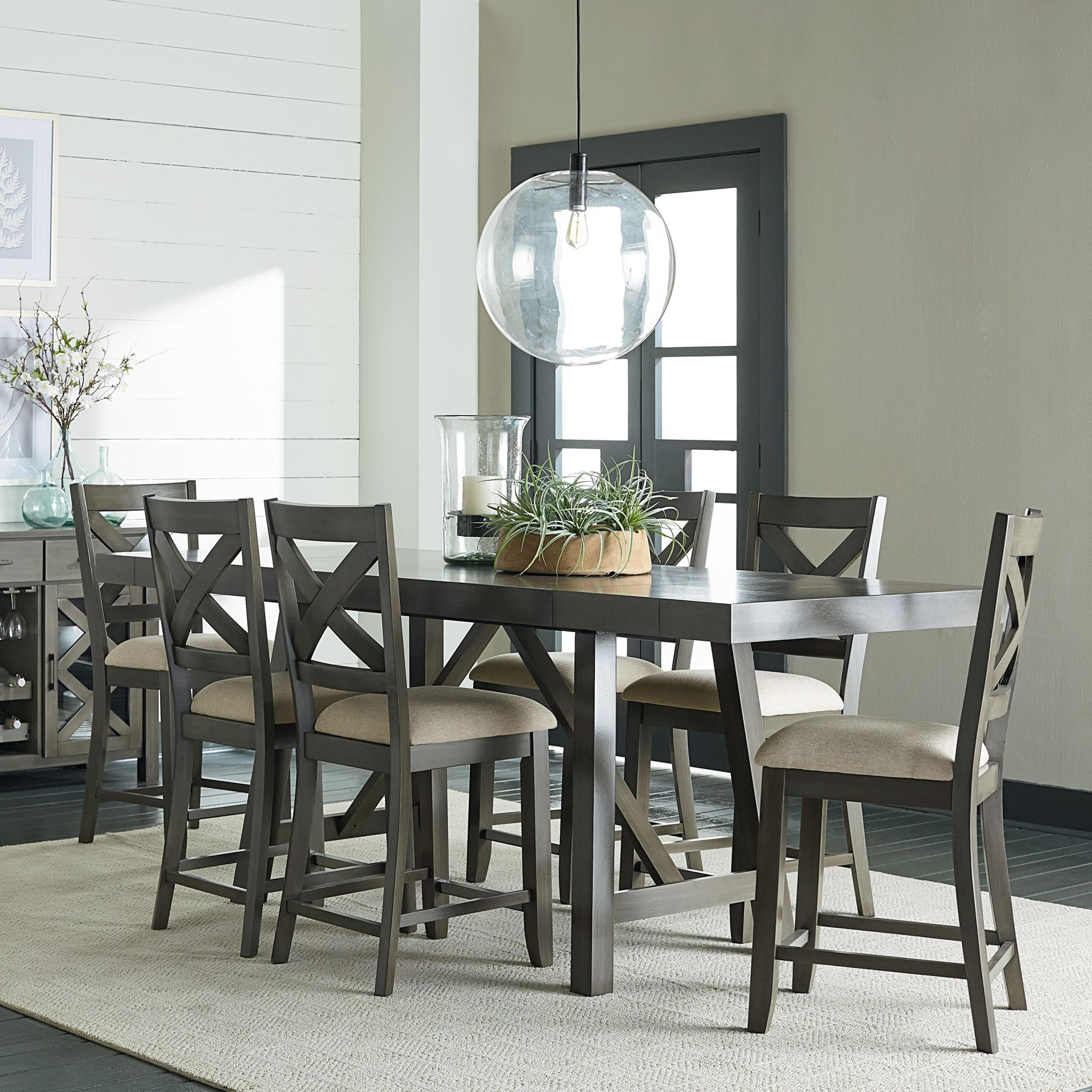 counter height 7 piece dining room table set by standard furniture wolf and gardiner wolf. Black Bedroom Furniture Sets. Home Design Ideas