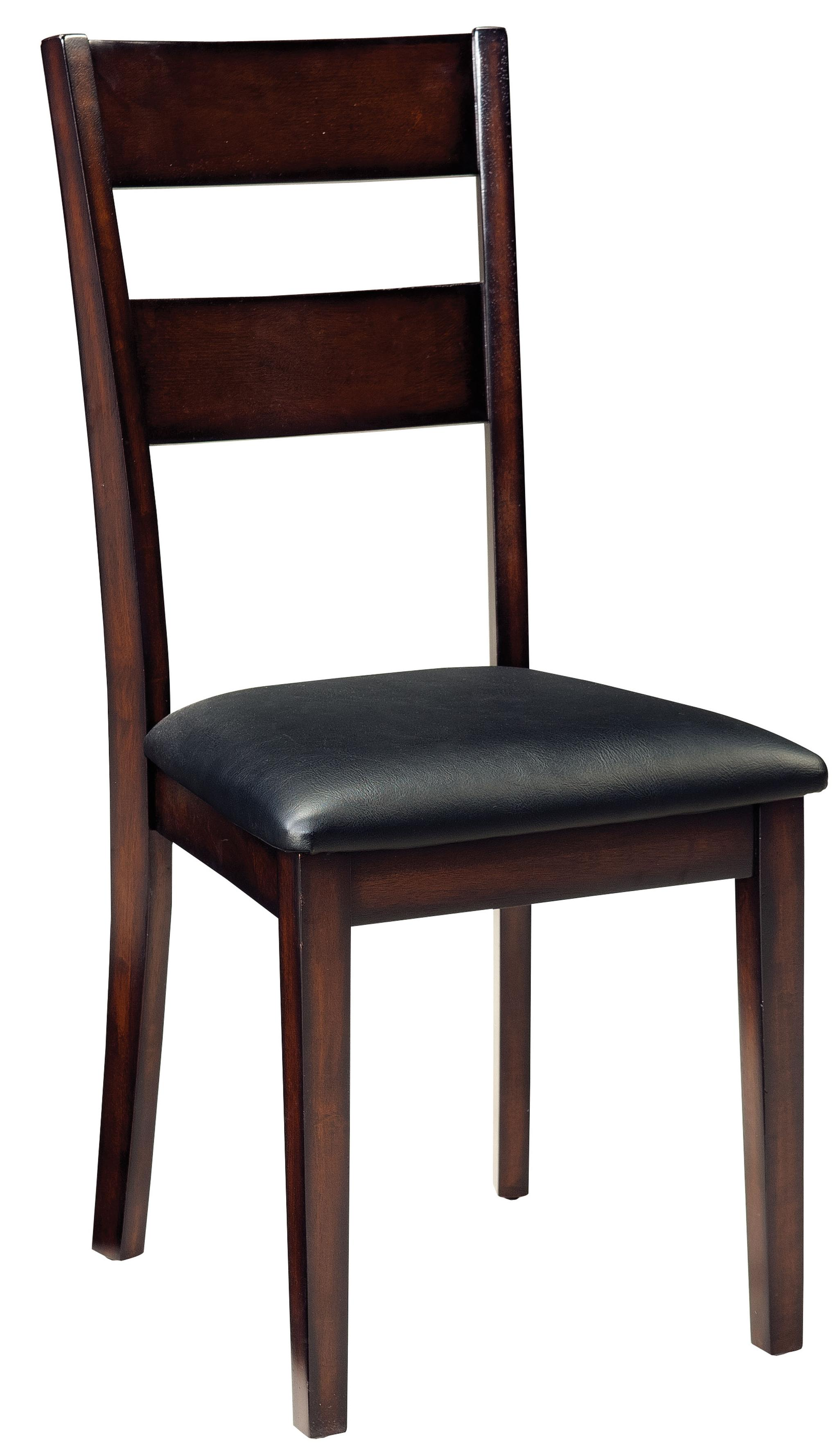 5 piece round table dining side chairs set by standard for Side chairs for dining table