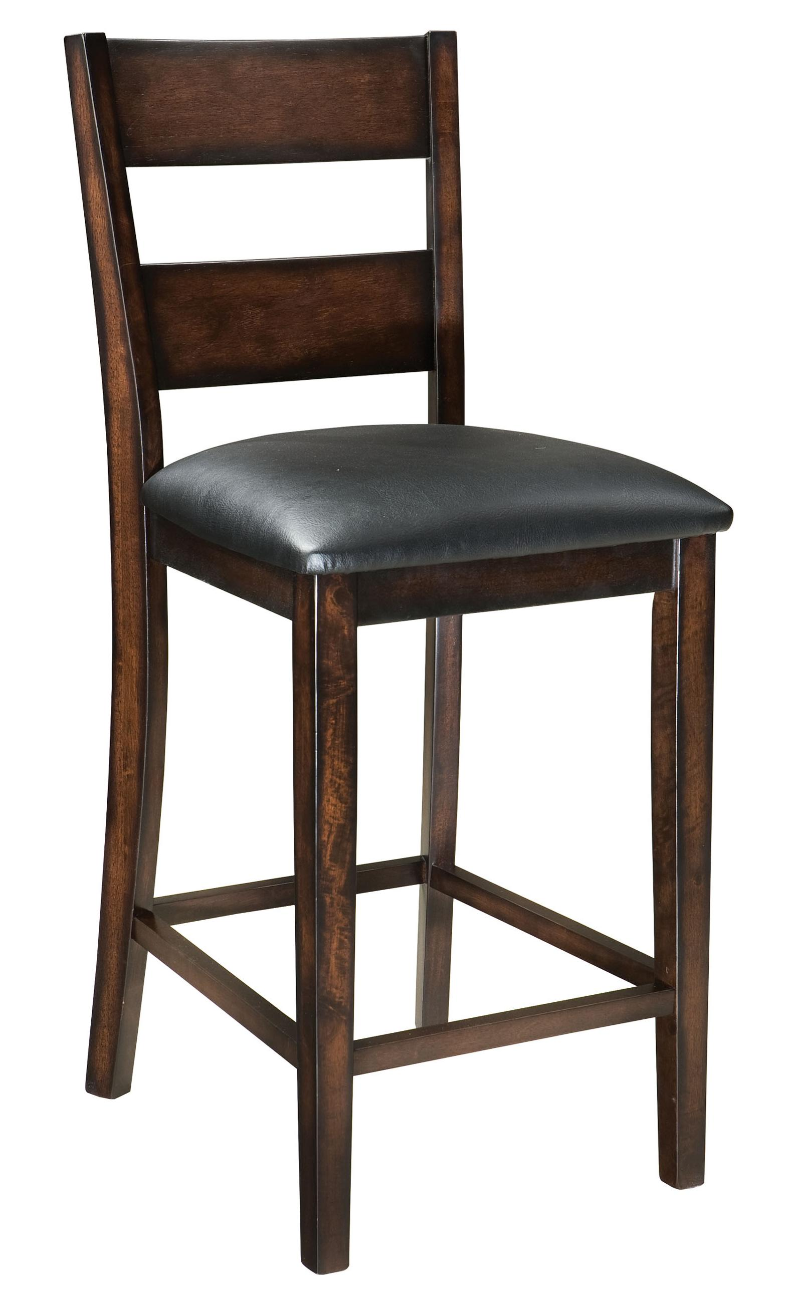 24 dark cherry finished counter stool by standard for Furniture 2 u