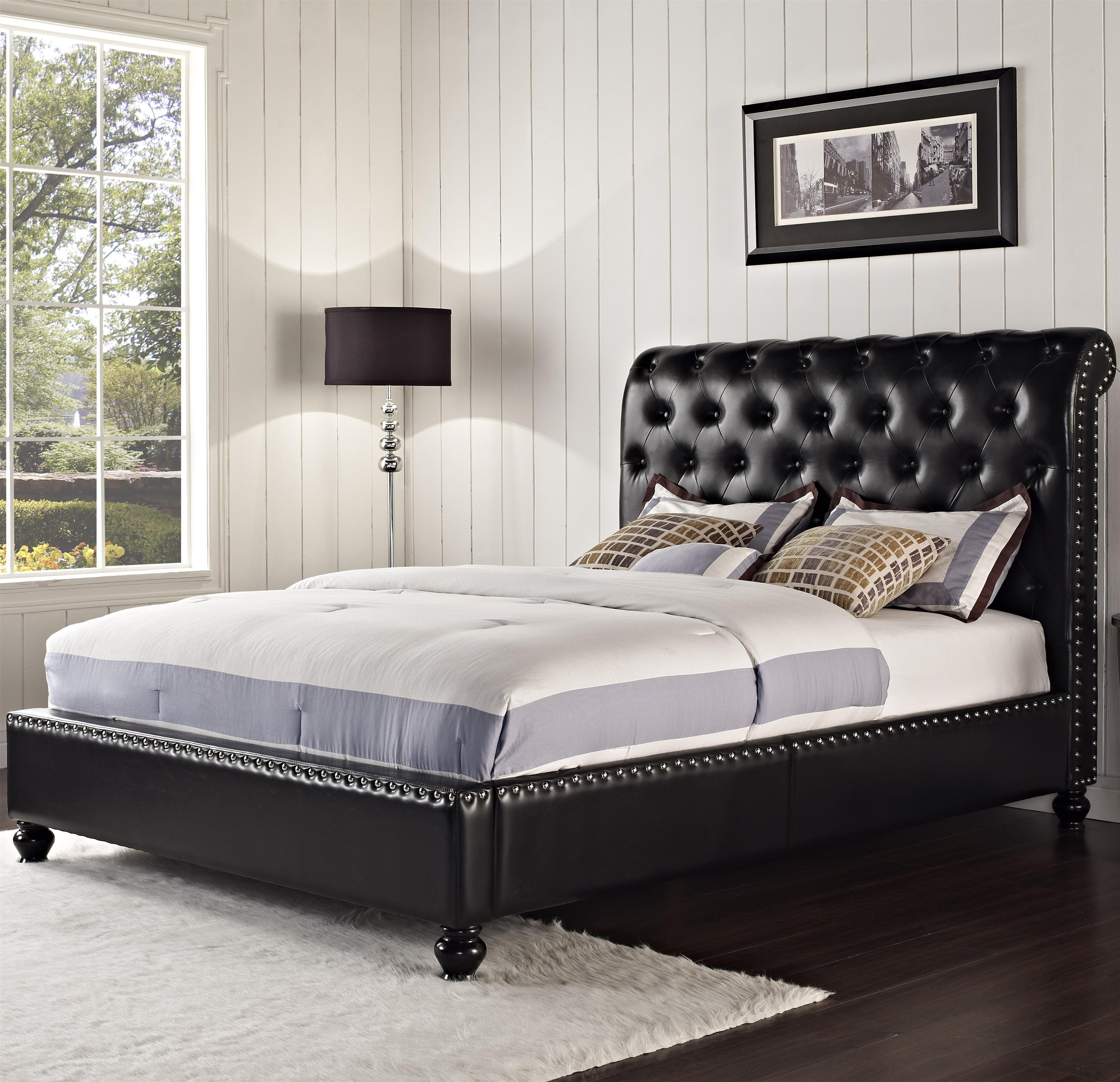 Upholstered King Bed With Rolled And Tufted Headboard By Standard Furniture Wolf And Gardiner