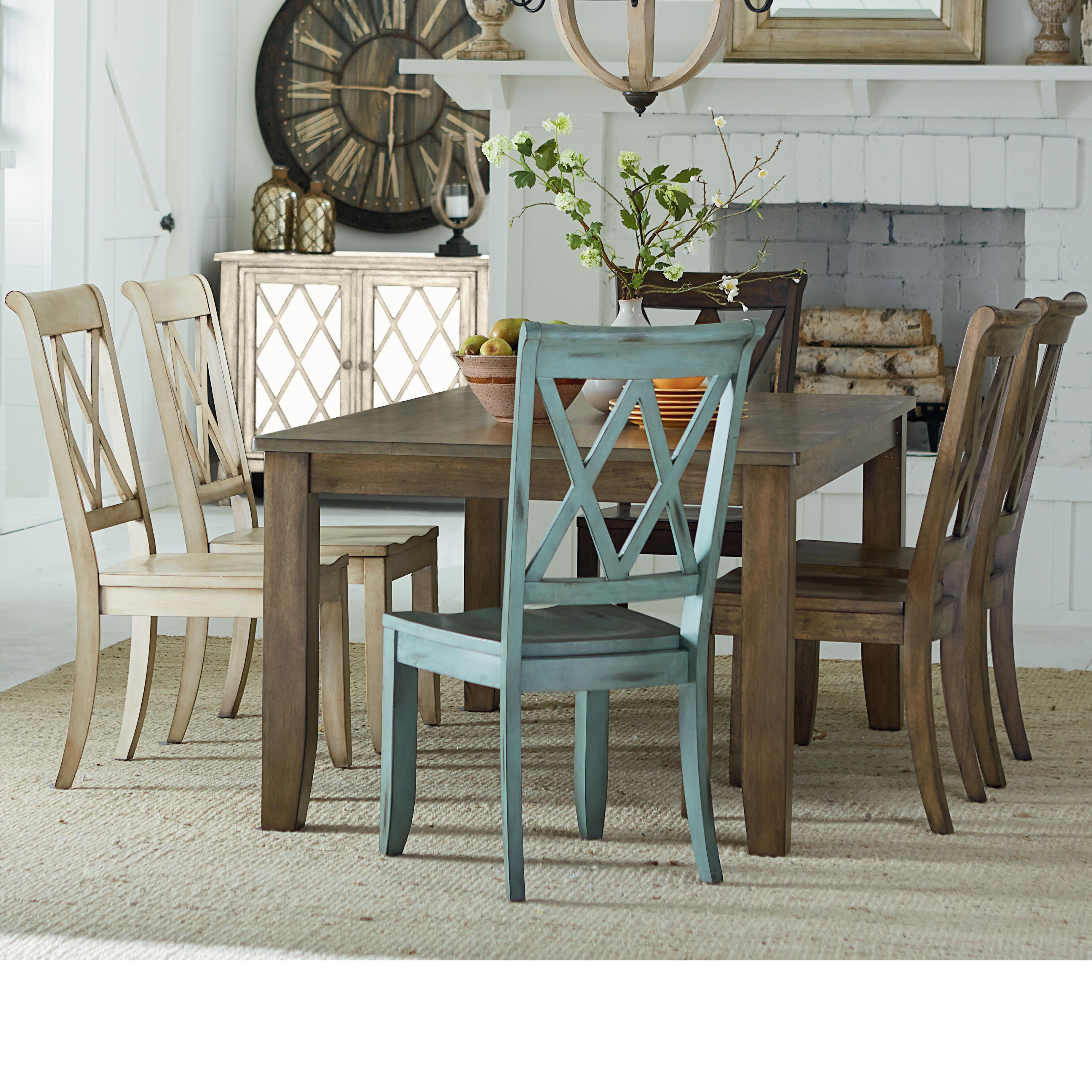 Table and 6 chair set by standard furniture wolf and for Standard dining table