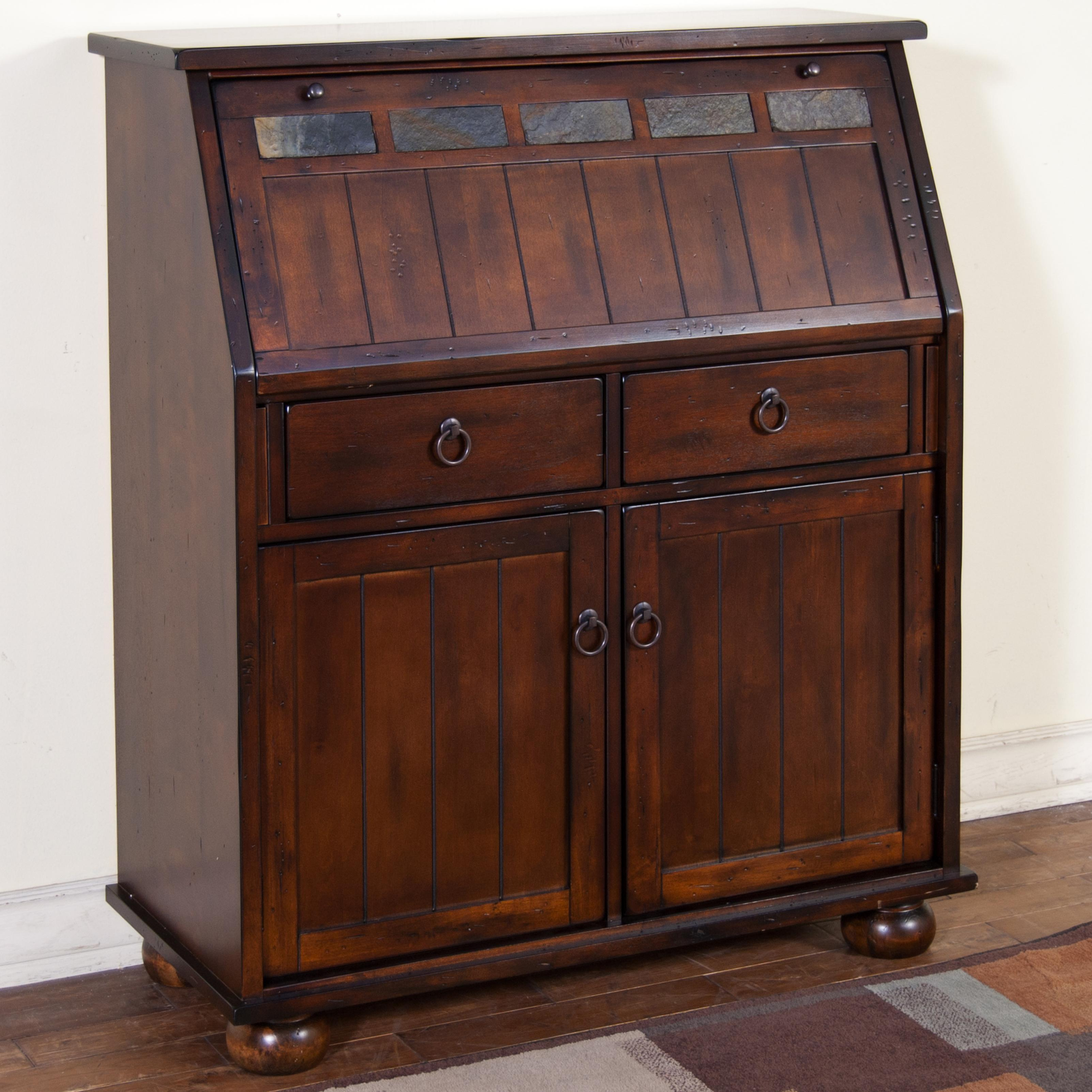 Drop Leaf Laptop Desk Armoire by Sunny Designs | Wolf and ...