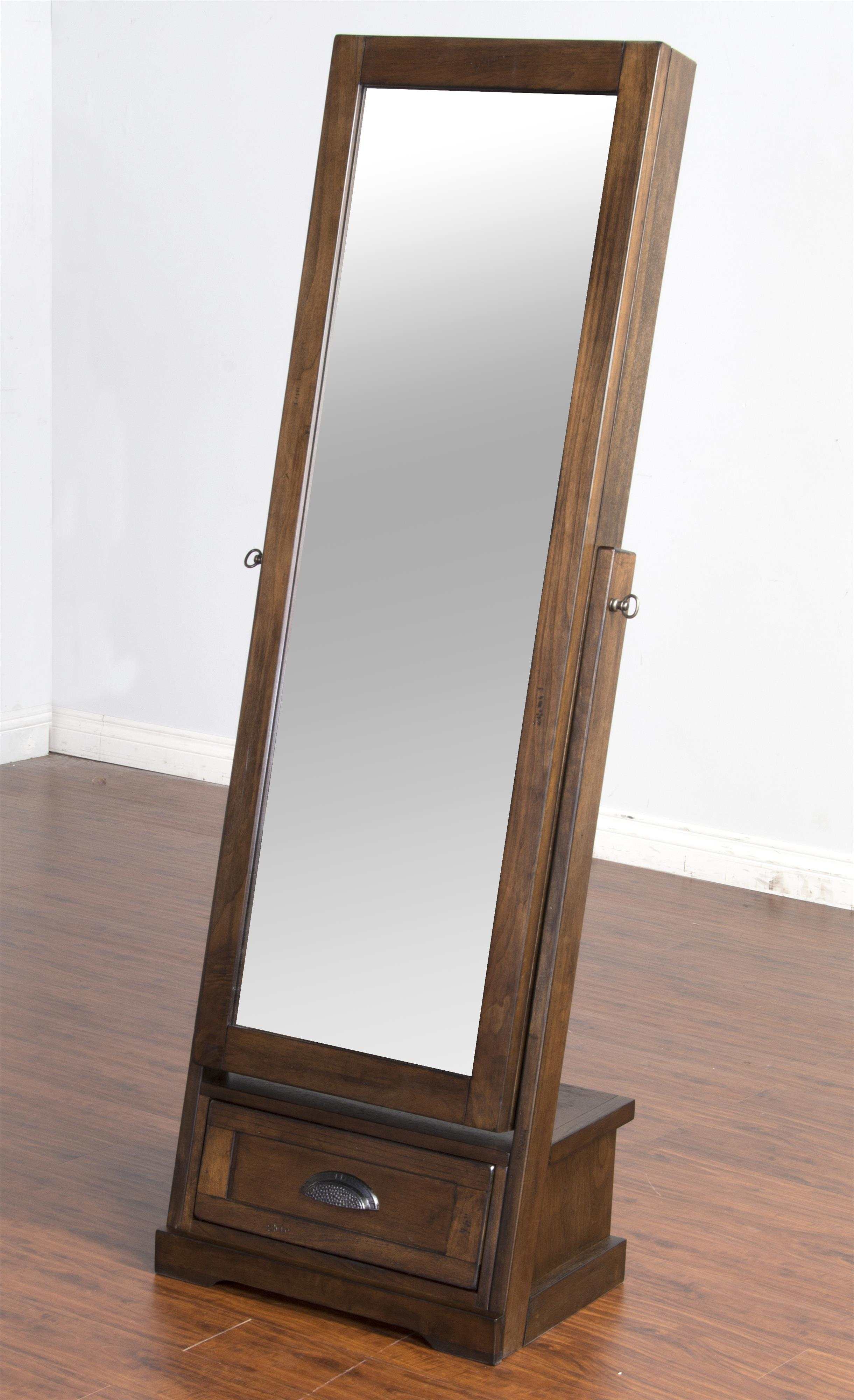 Sliding mirror stand with jewelry storage by sunny designs for Mirror stand