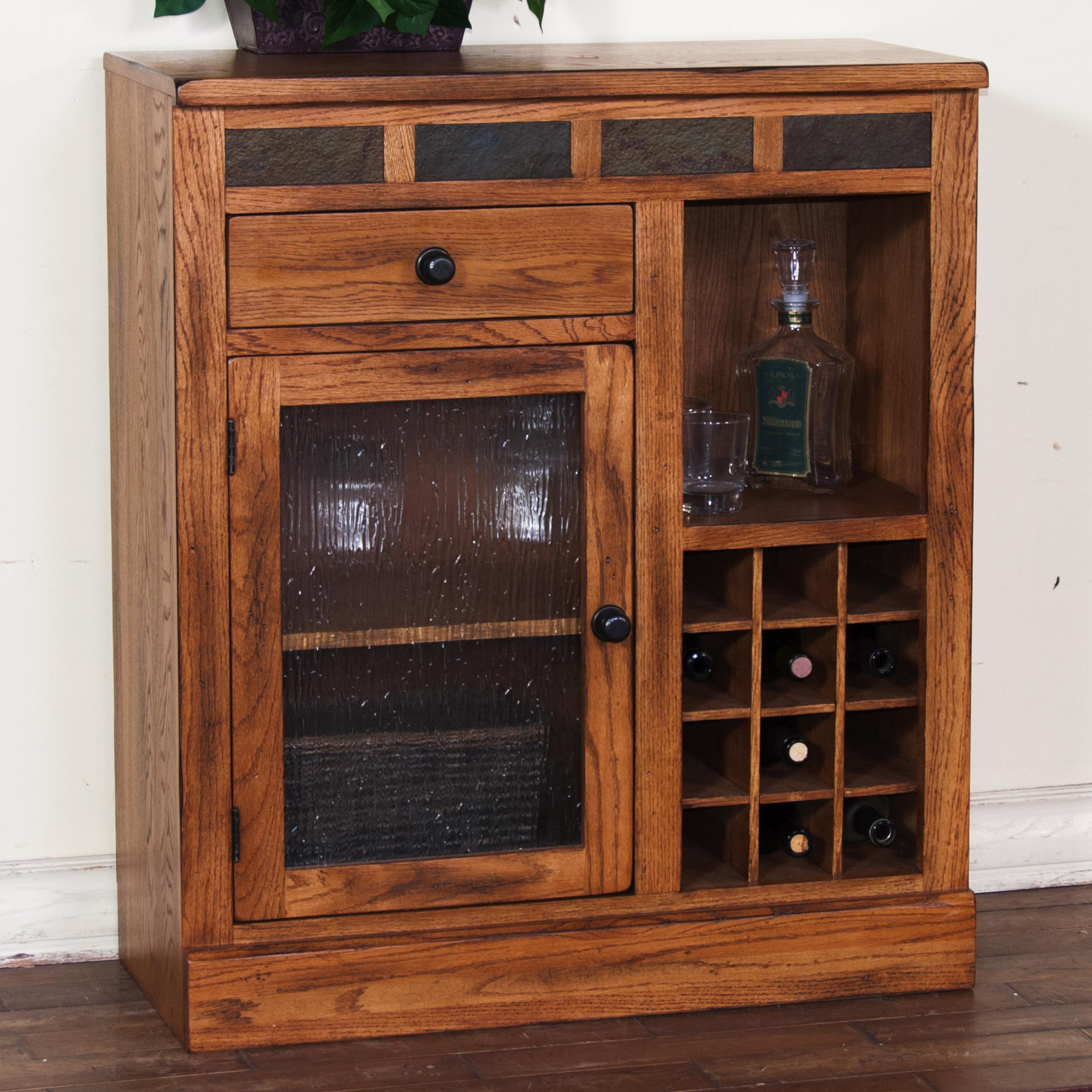 Mini Bar Cabinet By Sunny Designs Wolf And Gardiner Wolf Furniture