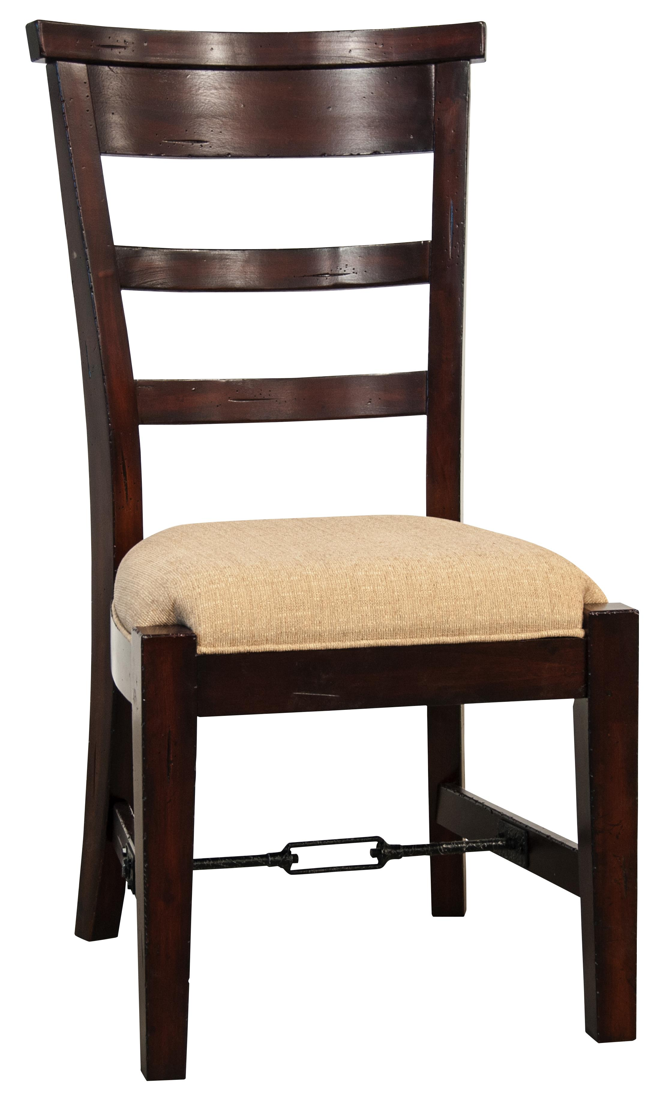 Ladder back dining side chair with upholstered seat by for Dining chair upholstered seat
