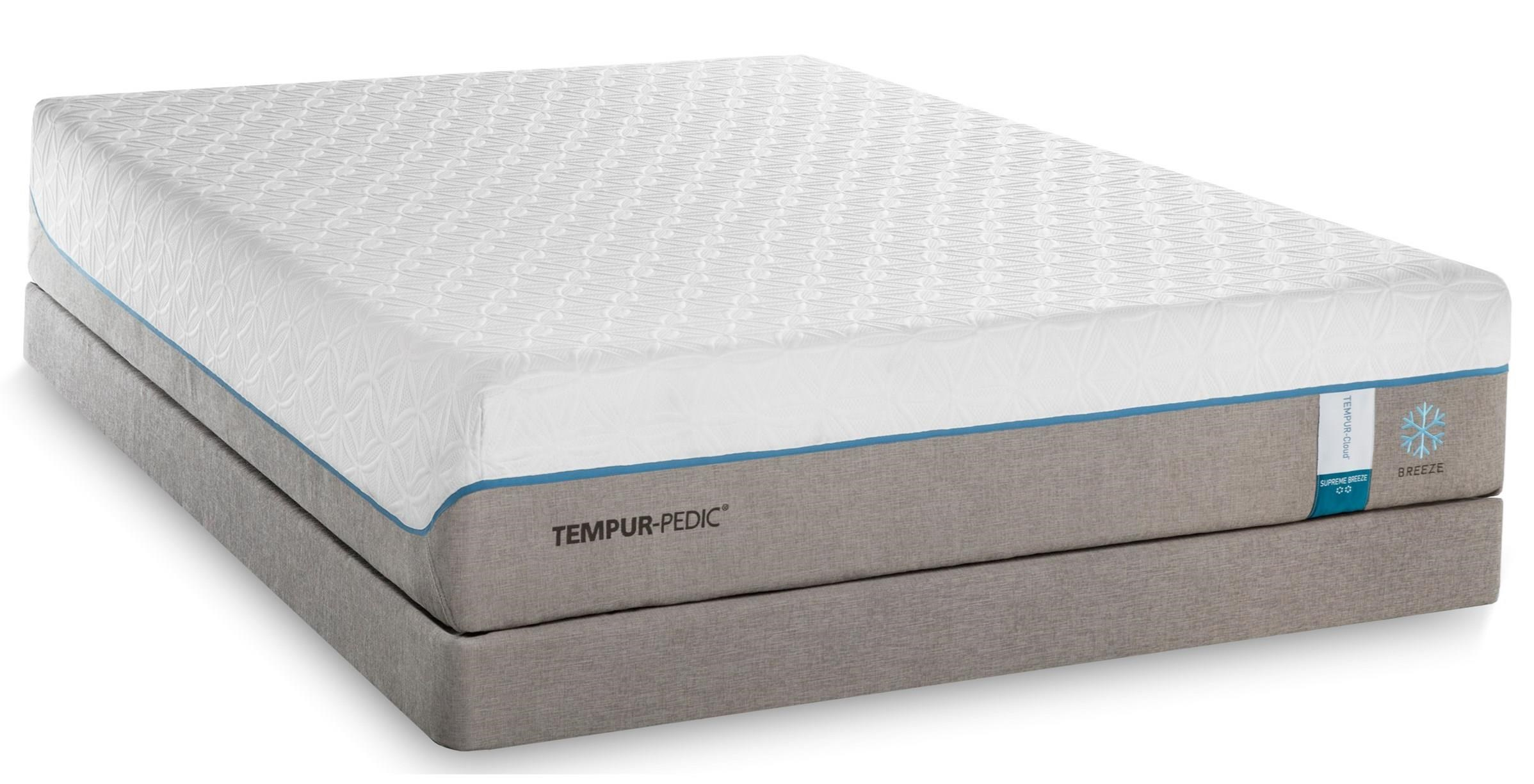 queen soft mattress and grey high profile foundation by tempur pedic wolf and gardiner wolf. Black Bedroom Furniture Sets. Home Design Ideas