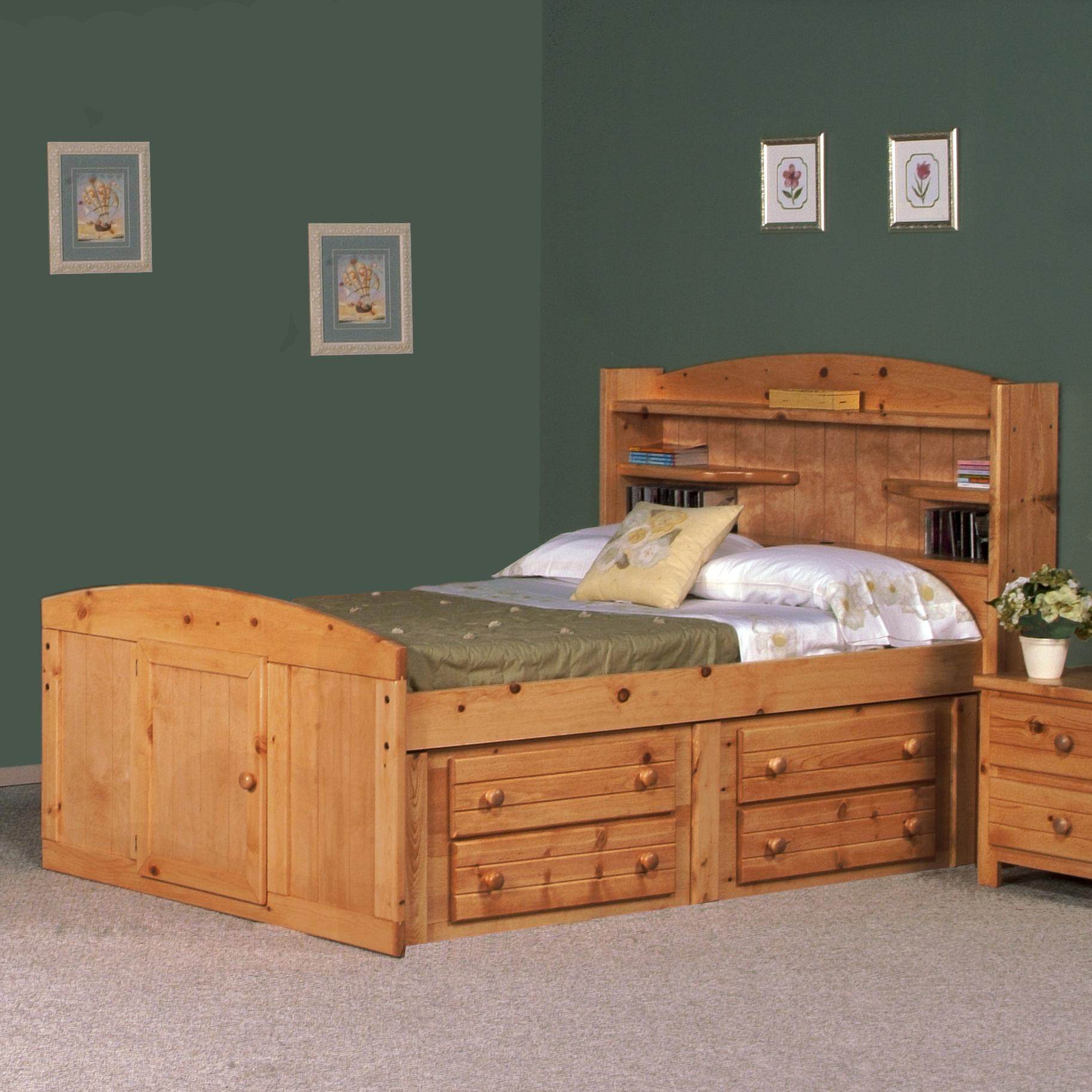 full palomino bed w four drawer storage by trendwood wolf and gardiner wolf furniture. Black Bedroom Furniture Sets. Home Design Ideas