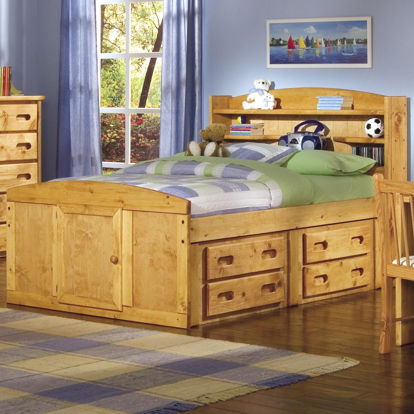 Full palomino captain 39 s bed by trendwood wolf and for Captains bed