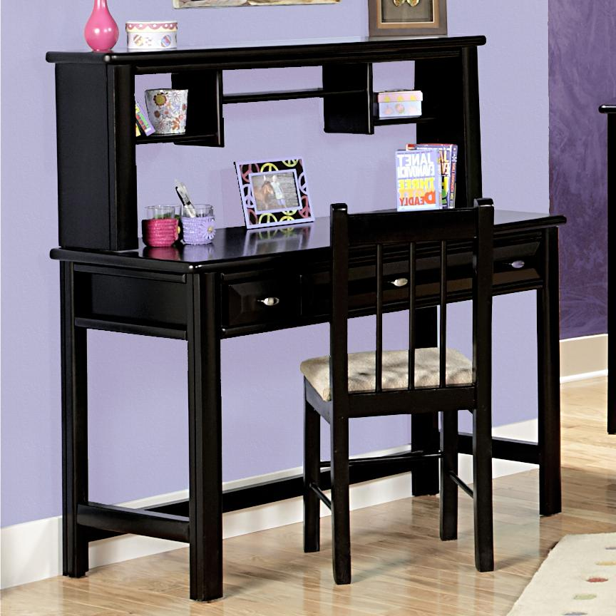 three drawer student desk with hutch by trendwood wolf