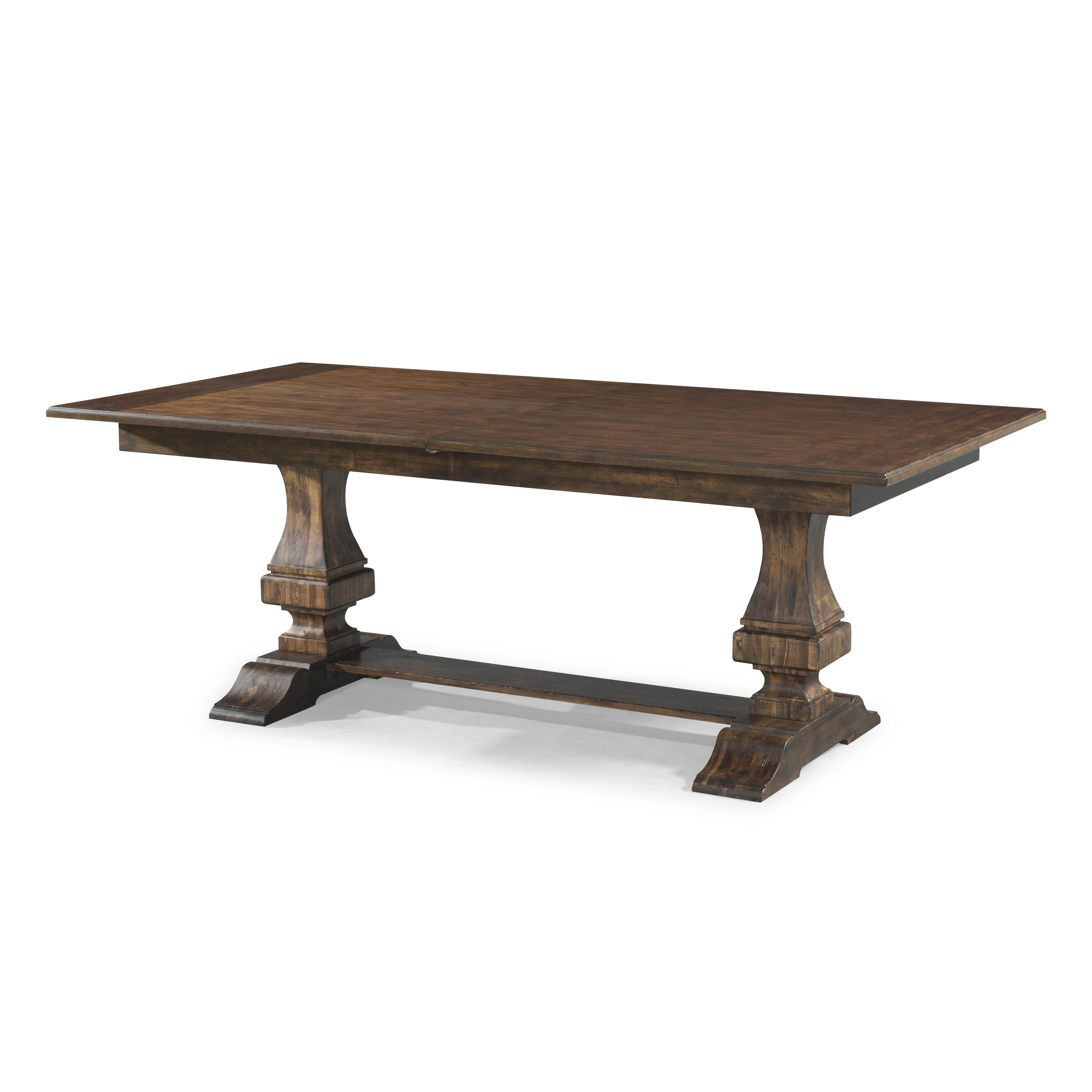 Trisha 39 s trestle table with 18 inch leaf by trisha for Home collection furniture