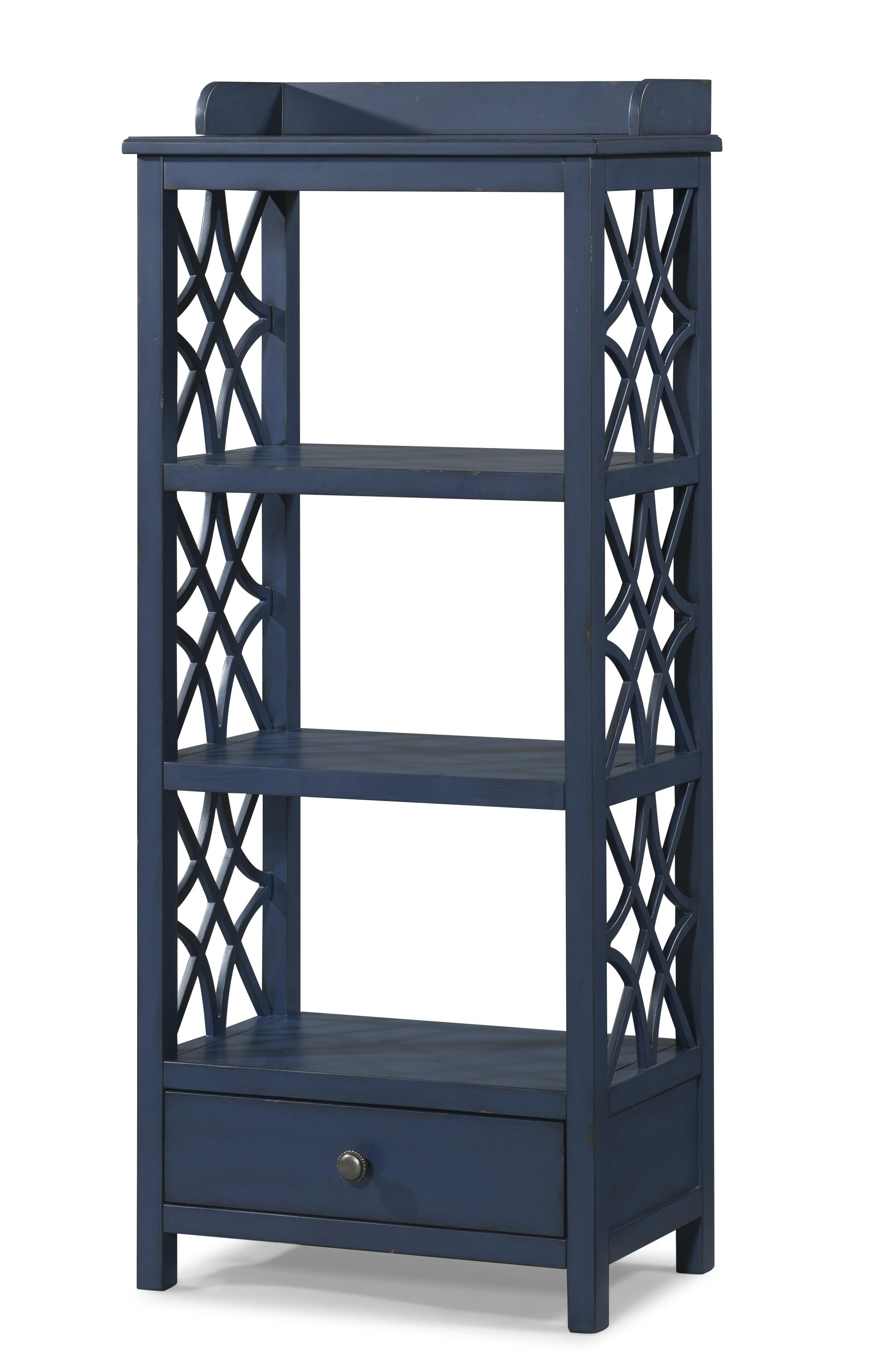 honeysuckle etagere with shelf and drawer storage by. Black Bedroom Furniture Sets. Home Design Ideas