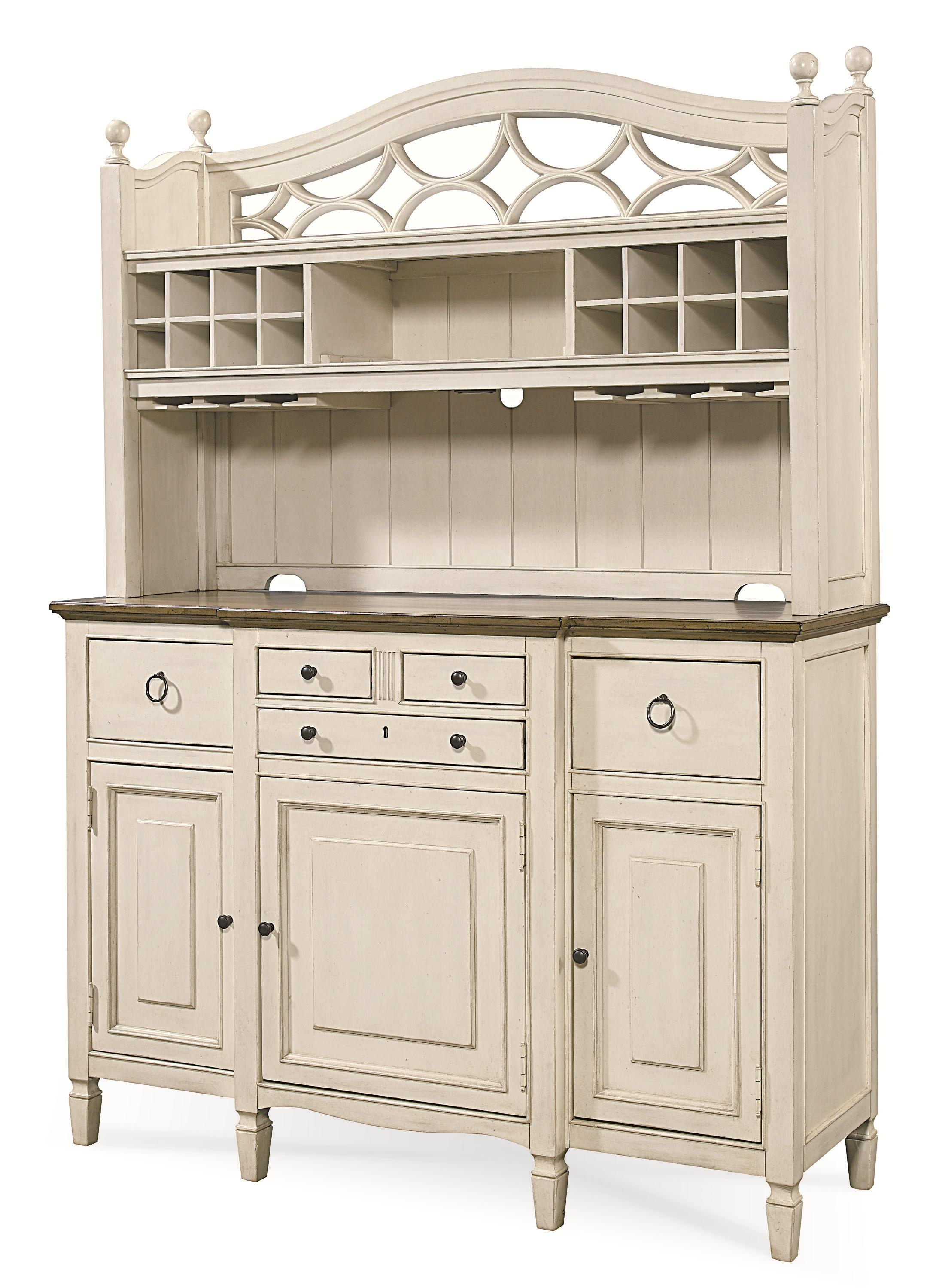 2 Pc Serving Buffet And Bar Hutch With Wine Storage By