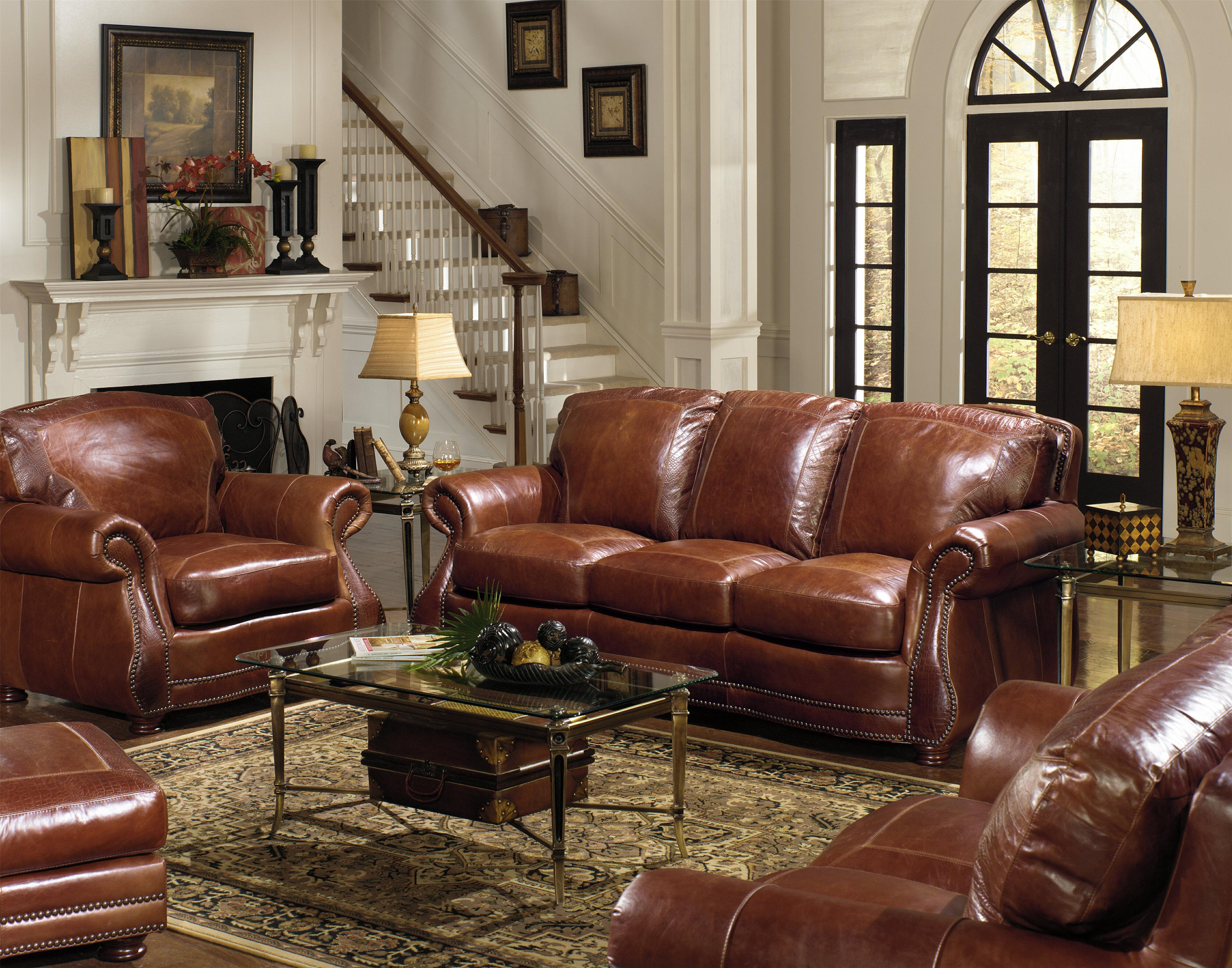 traditional roll arm sofa w alligator by usa premium leather wolf and gardiner wolf furniture. Black Bedroom Furniture Sets. Home Design Ideas