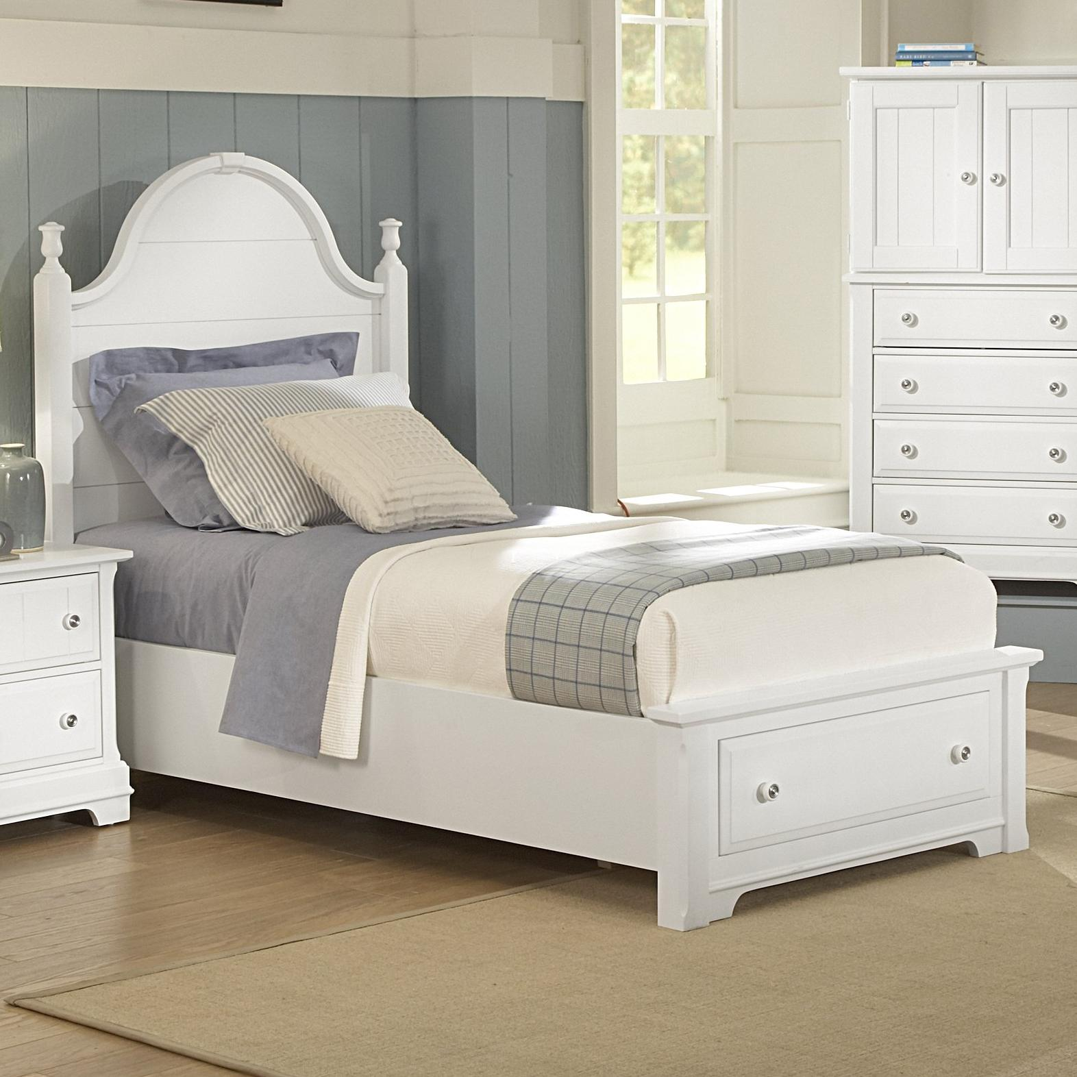 queen panel storage bed by vaughan bassett wolf and gardiner wolf furniture. Black Bedroom Furniture Sets. Home Design Ideas