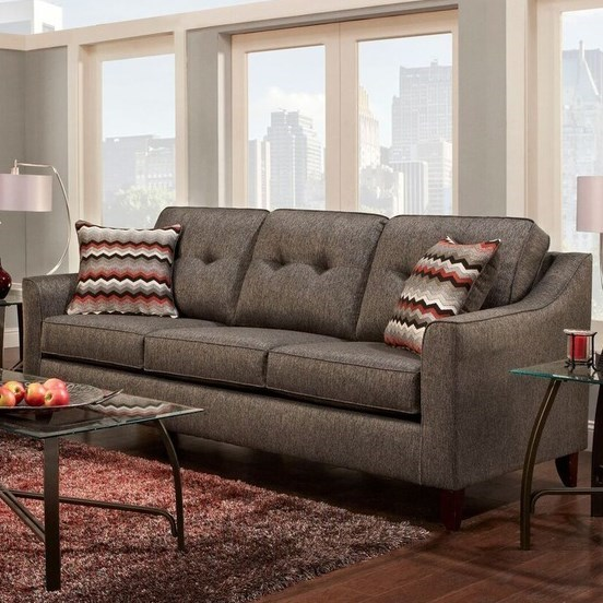 Contemporary sofa with curved track arms by washington for Curved sectional sofa amazon