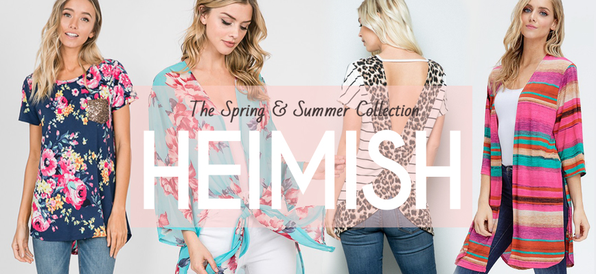 adbb17c9689 We are a clothing company based on Southern California - designed and  manufactured in LA. Heimish is our junior and young contemporary line.